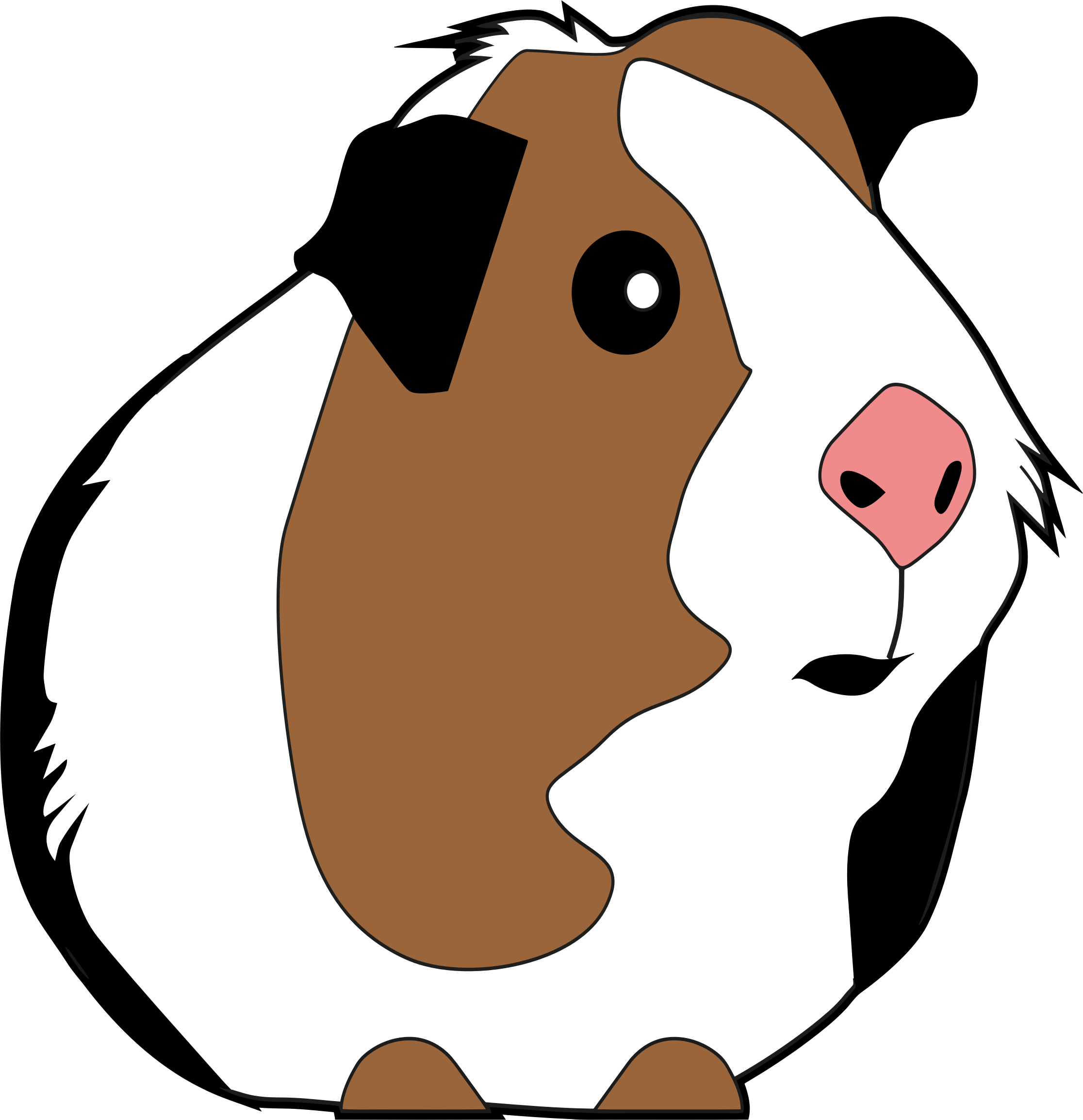 Guinea Pig Illustration by GDJ