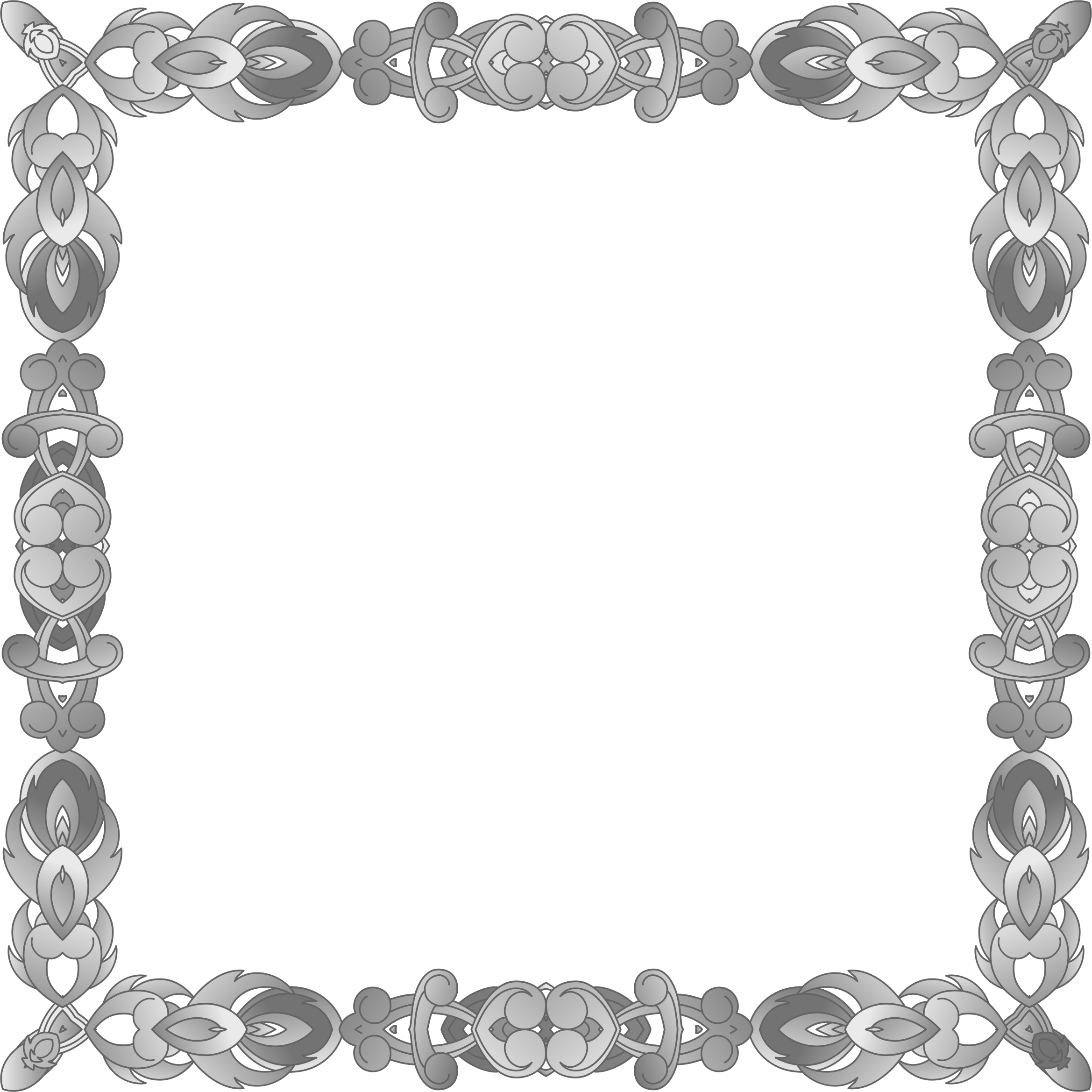 Grayscale Abstract Frame by GDJ