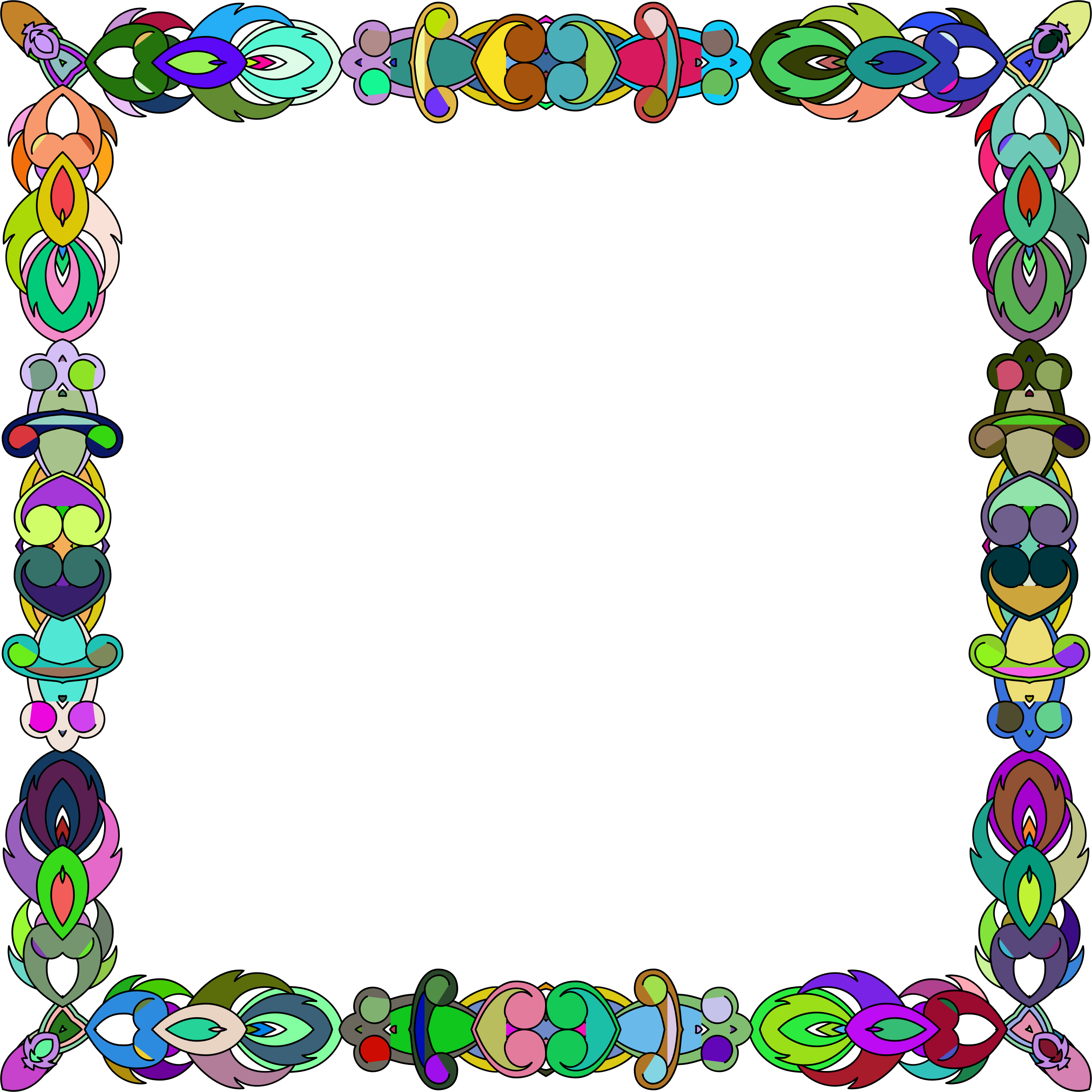 Colorful Abstract Frame 2 by GDJ