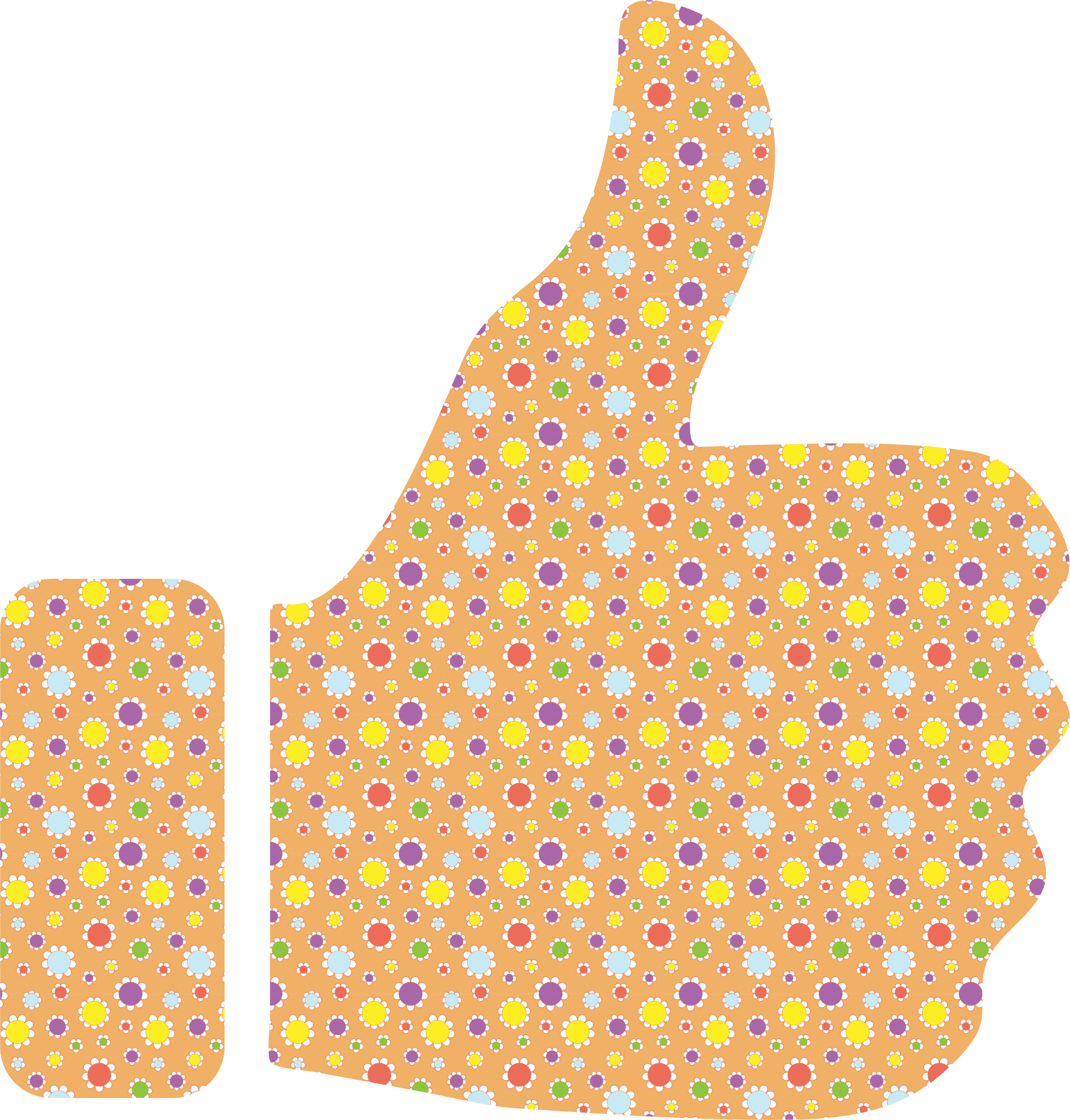 Cute Floral Thumbs Up by GDJ