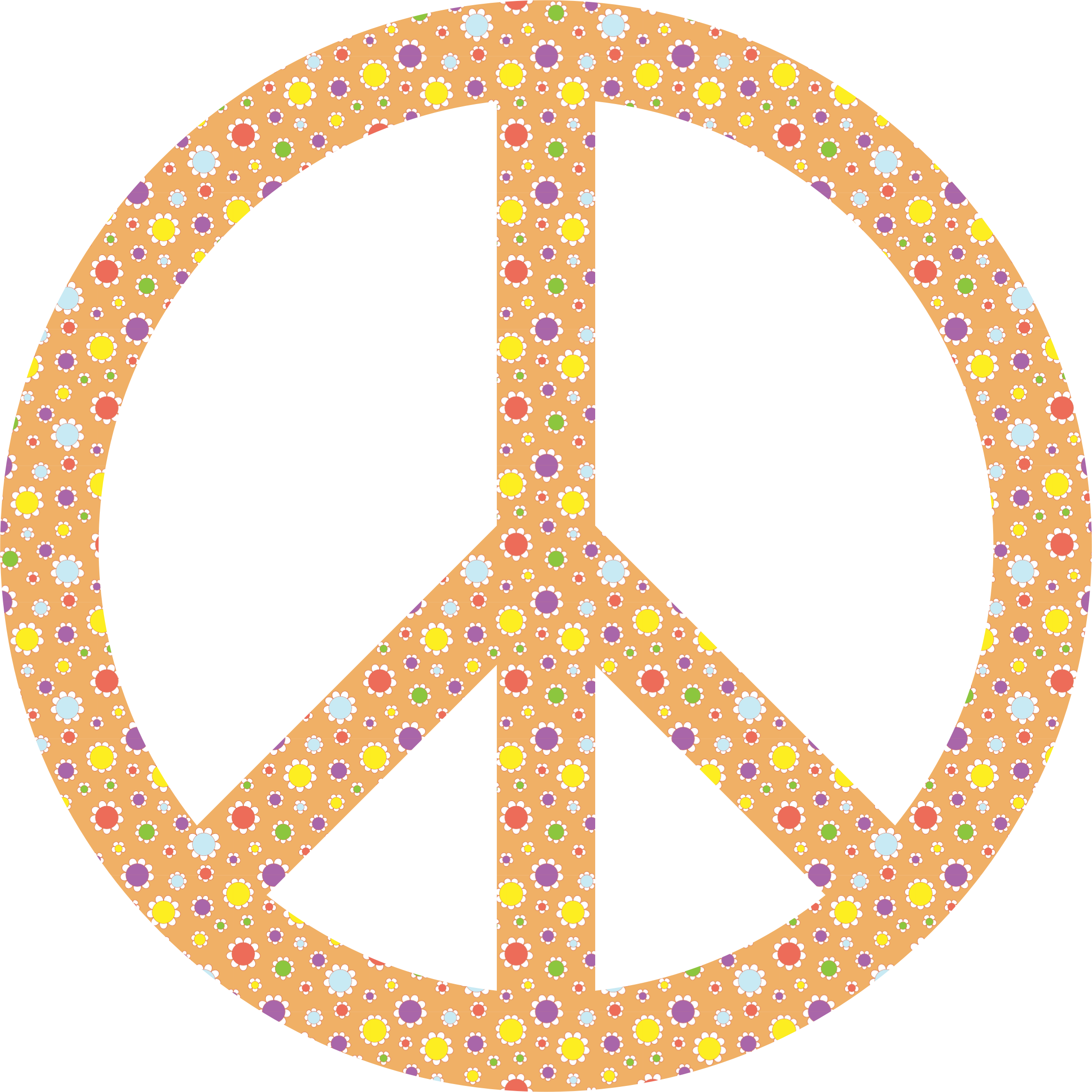 Cute Floral Peace Sign by GDJ