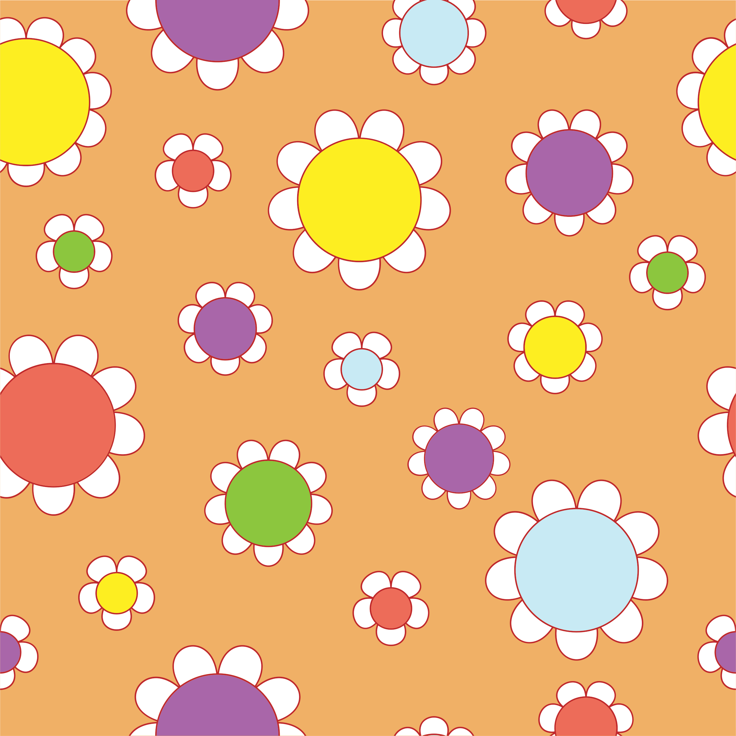 Seamless Flowers Pattern By Karen Arnold by GDJ