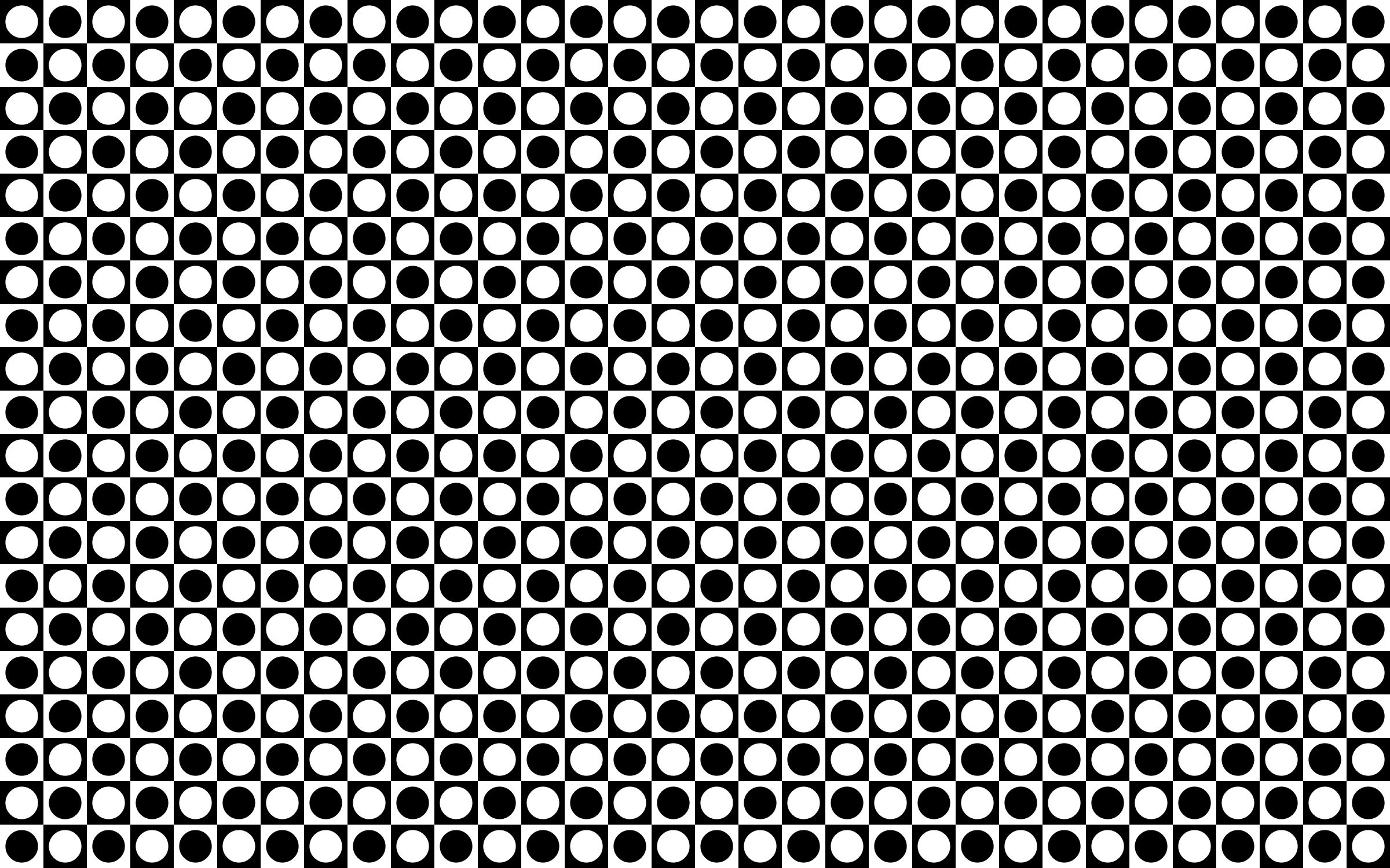Seamless Circles And Squares Checkerboard Pattern by GDJ