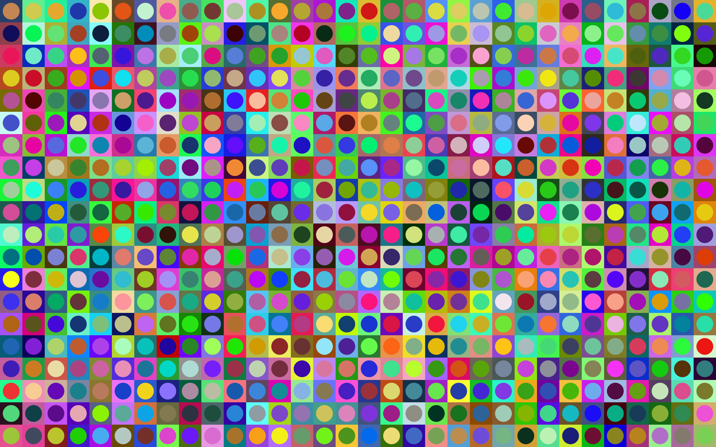 Prismatic Circles And Squares Checkerboard Pattern by GDJ