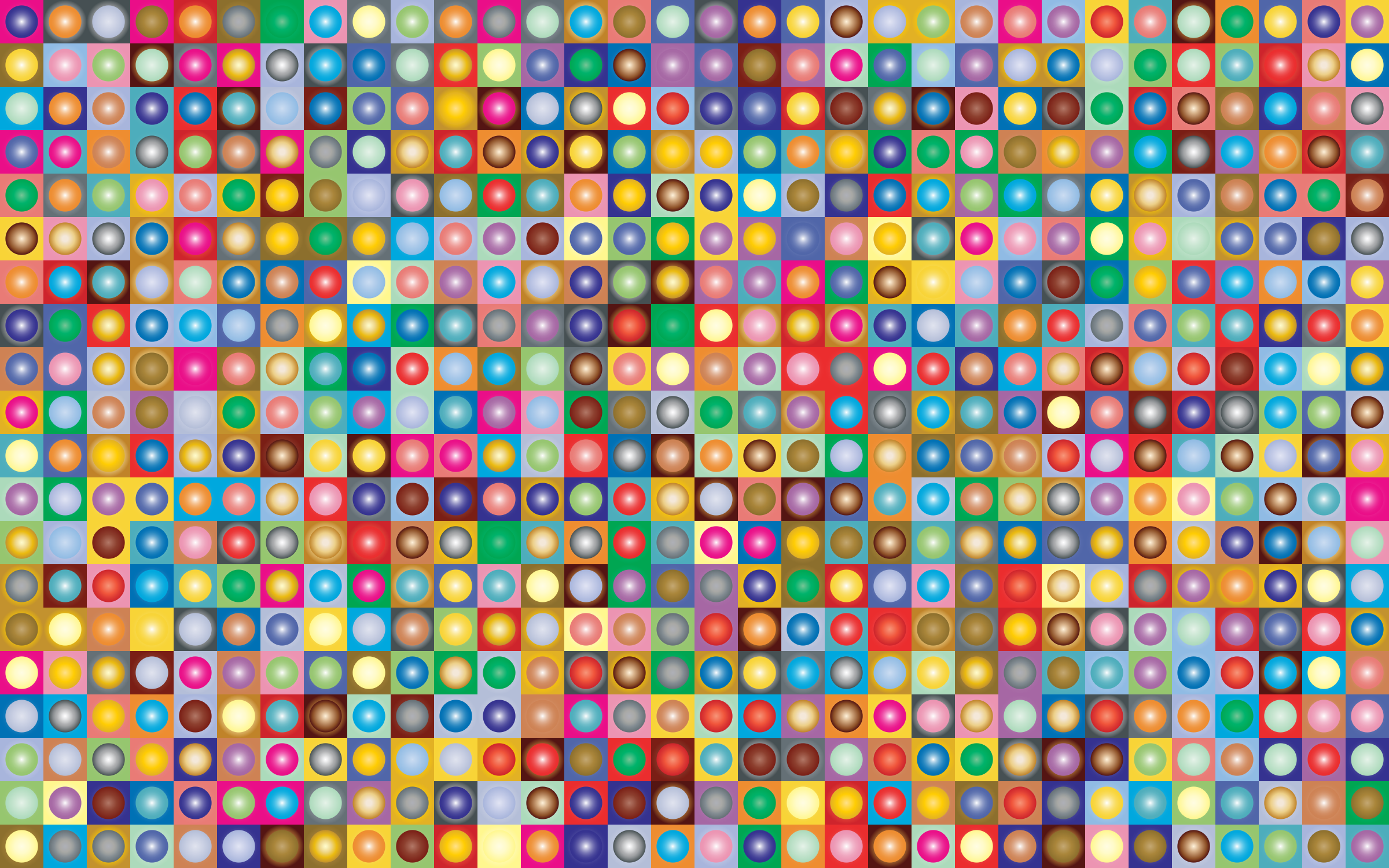 Prismatic Circles And Squares Checkerboard Pattern 2 by GDJ