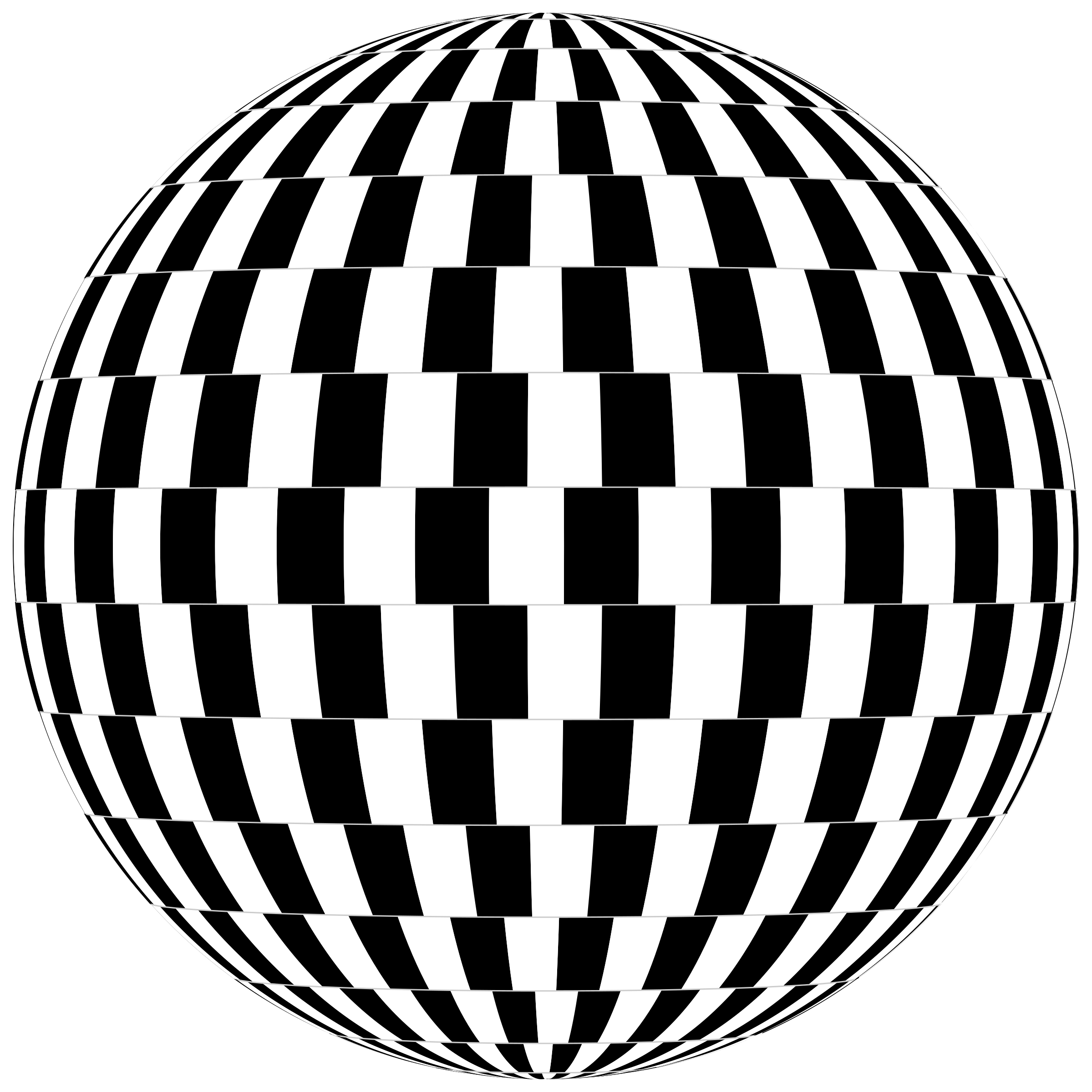 Checkerboard Optical Illusion Sphere by GDJ