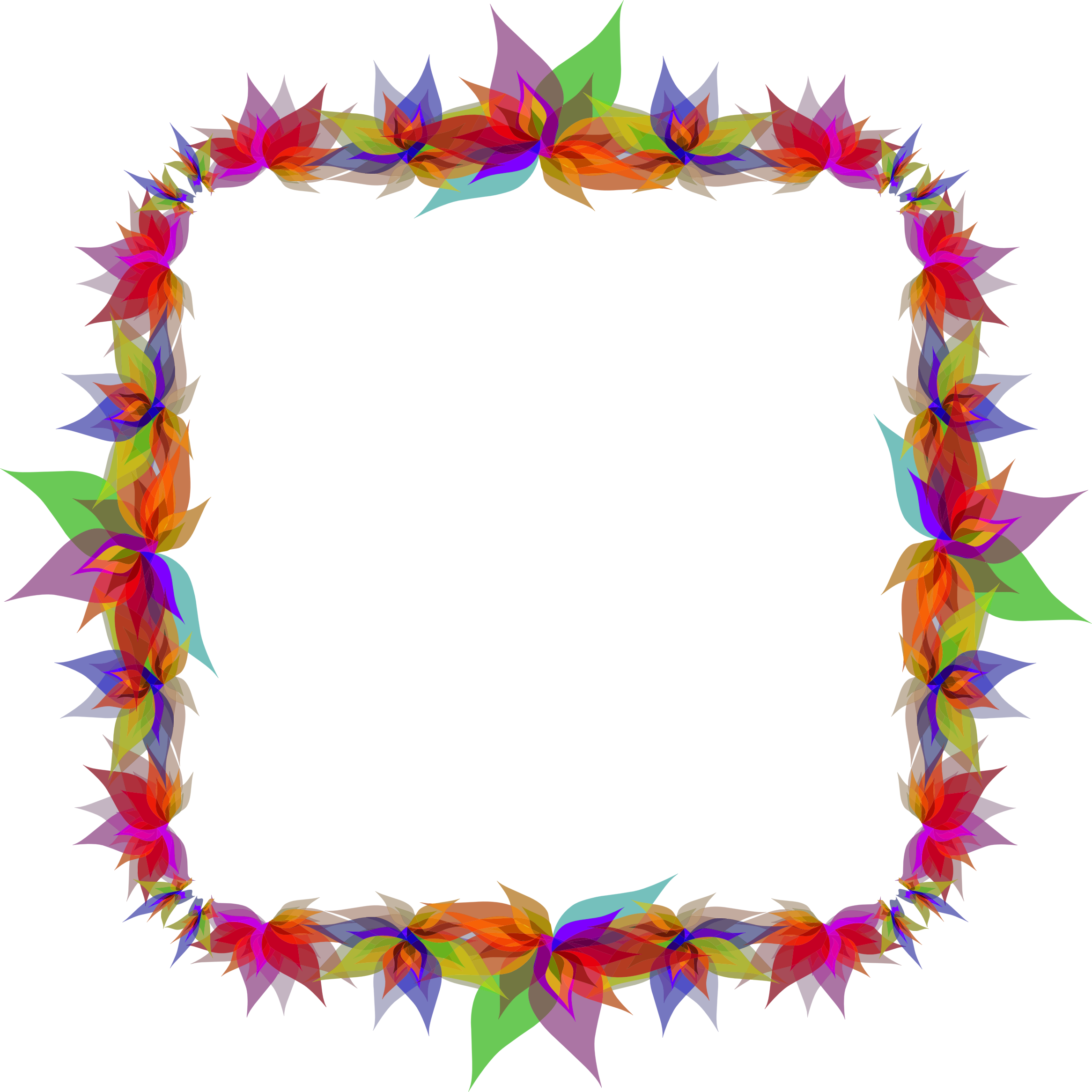 Clipart Abstract Flowers Frame 5