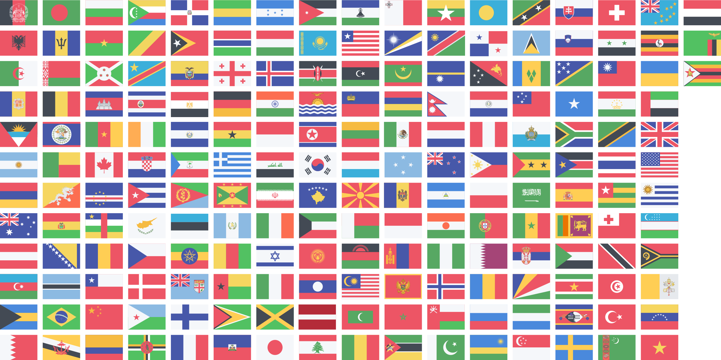 Countries flags by Anthony Gaudino