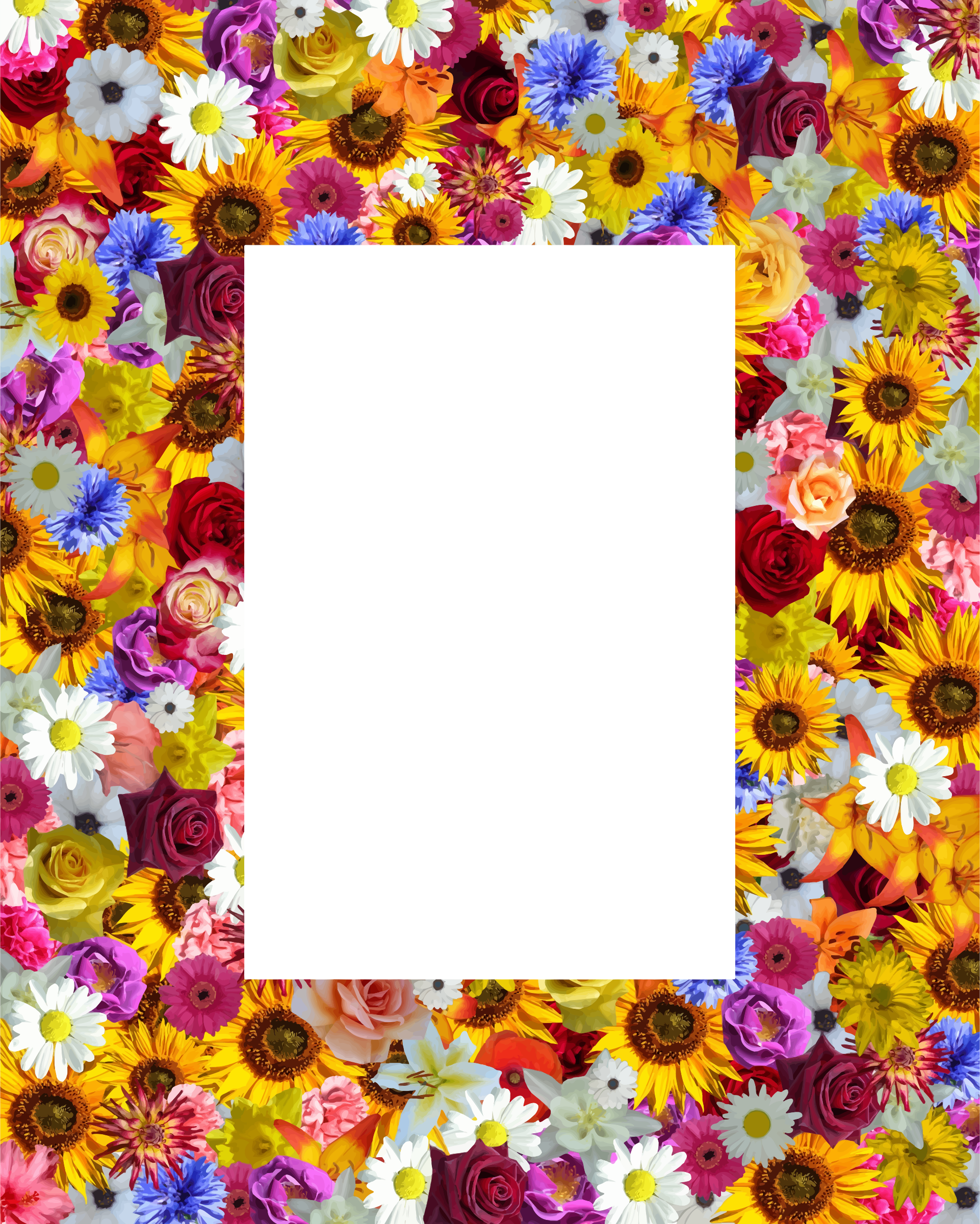 Floral frame 21 by Firkin
