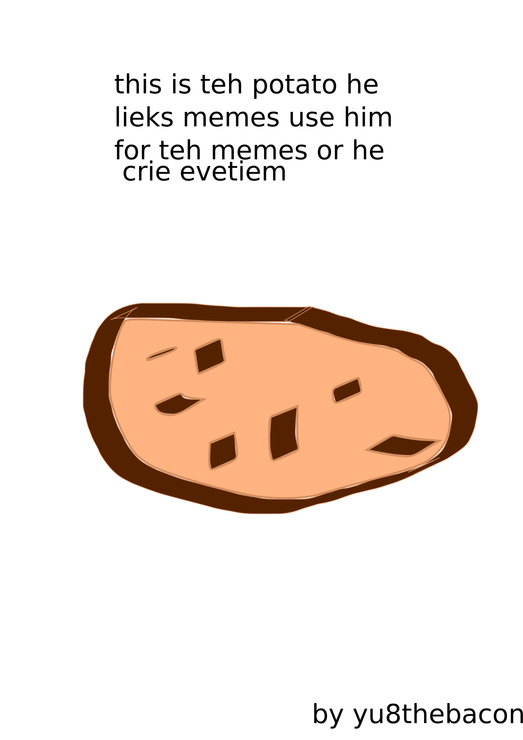 teh meme potato by Yu8thebacon
