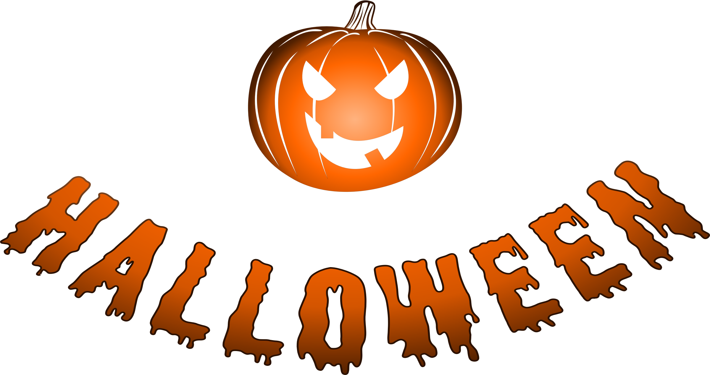 Halloween logo with jack-o'-lantern by uroesch