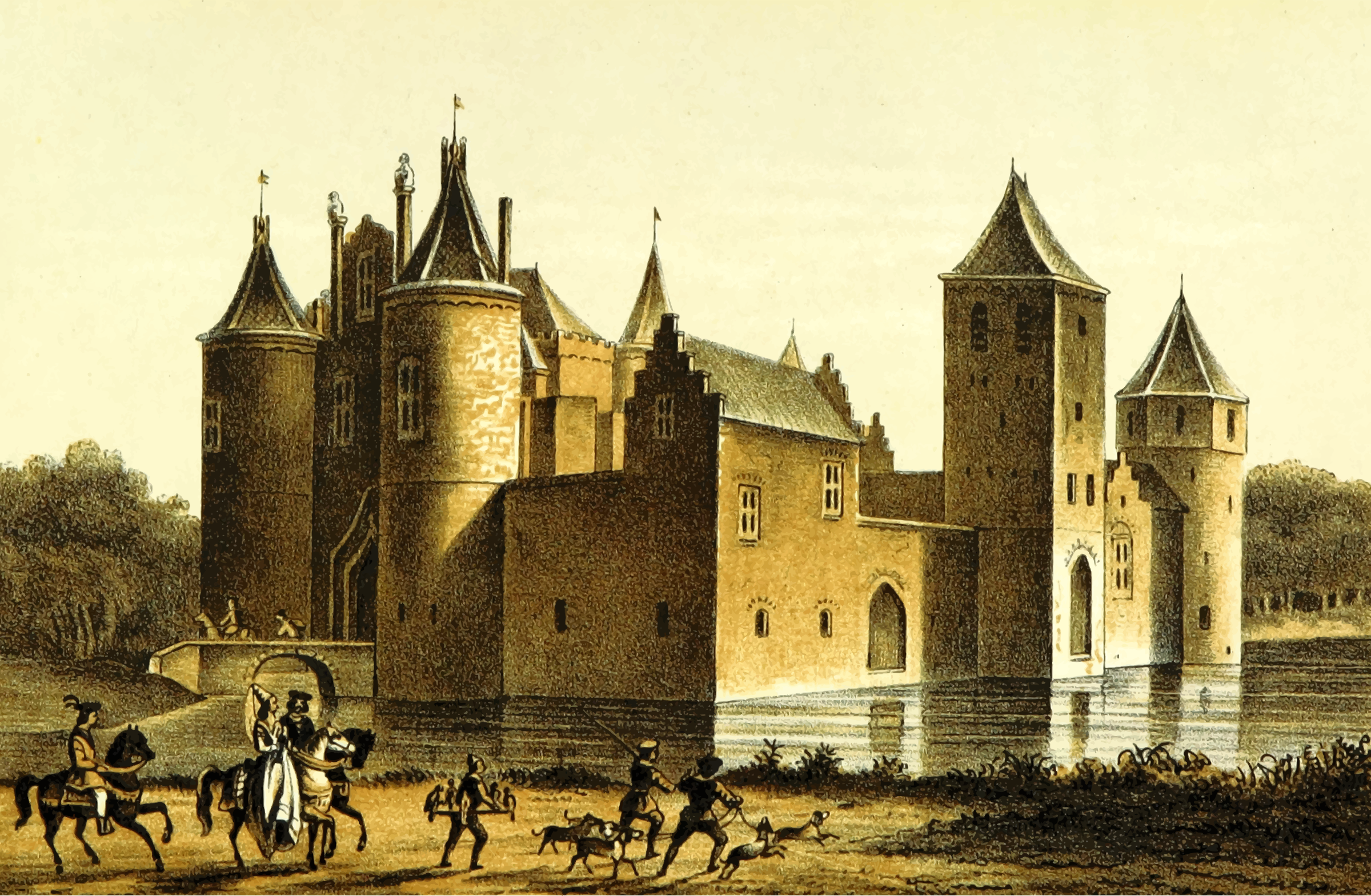 Egmond Castle by Firkin