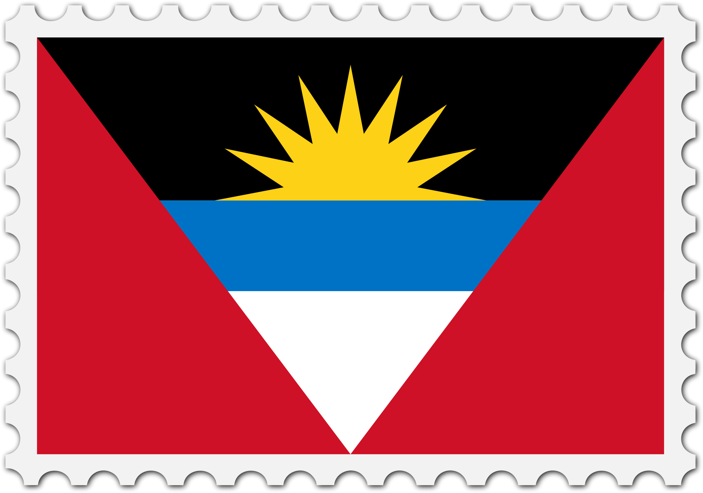 Antigua and Barbuda flag stamp by Firkin