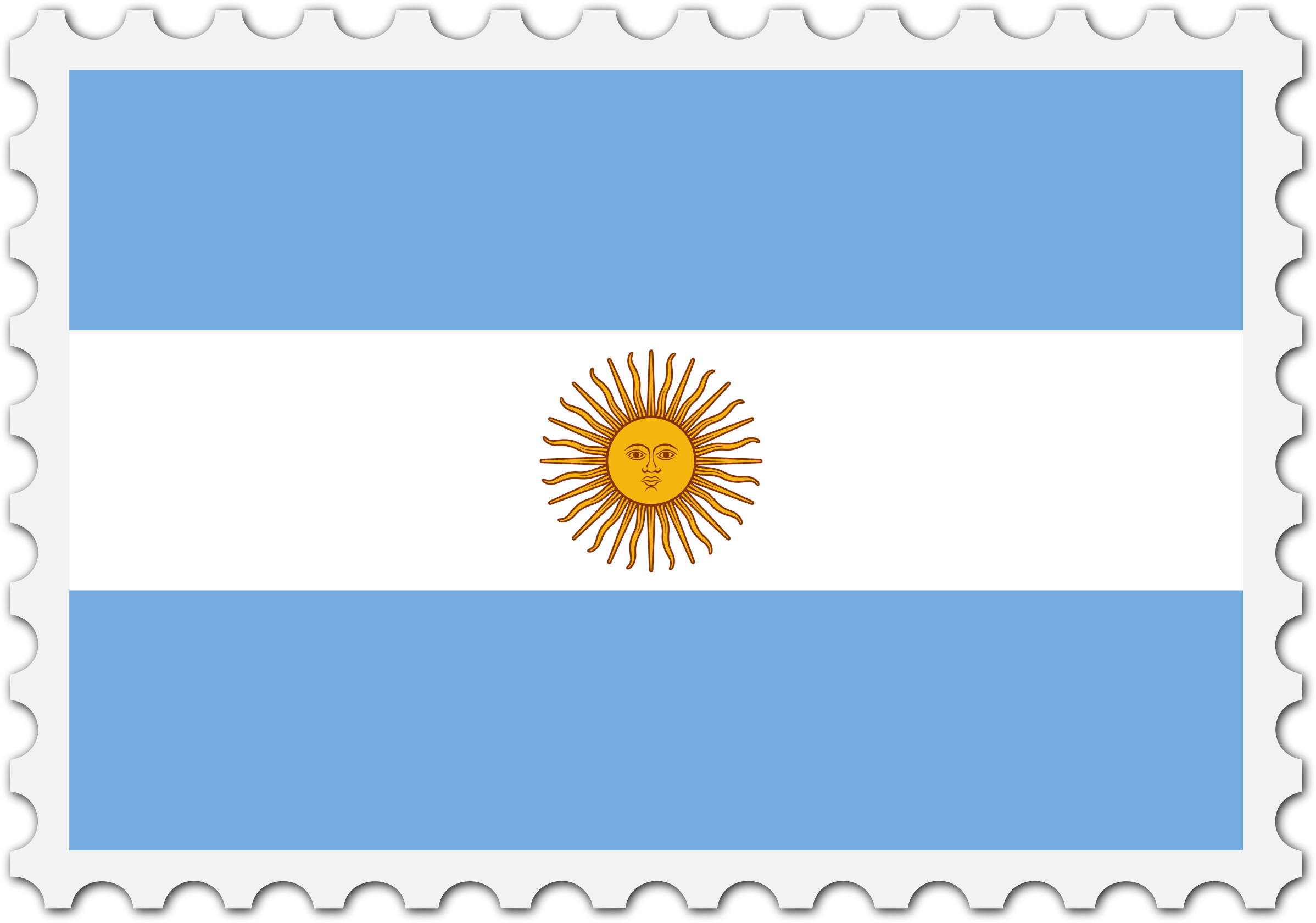 Argentina flag stamp by Firkin