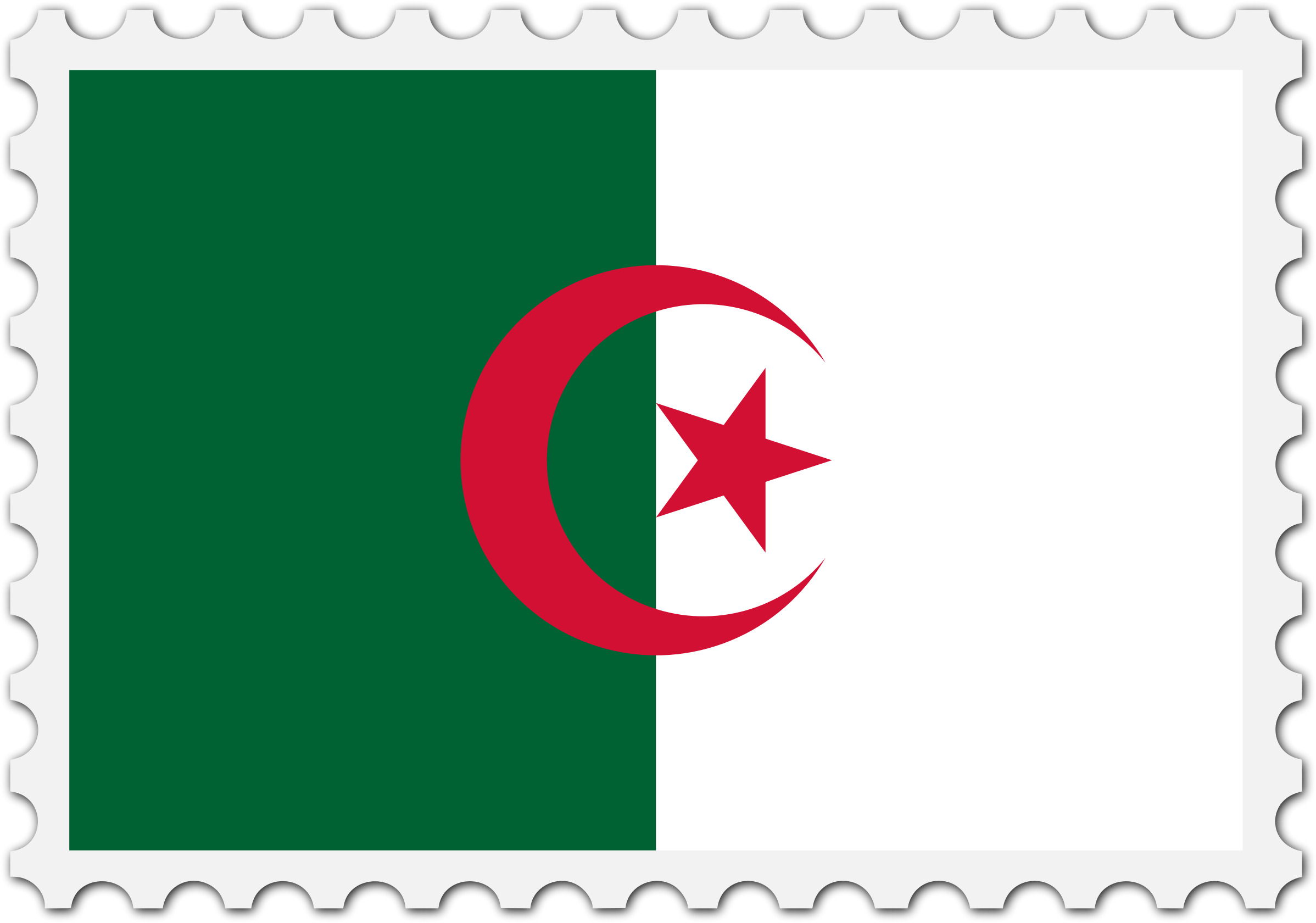 Algeria flag stamp by Firkin