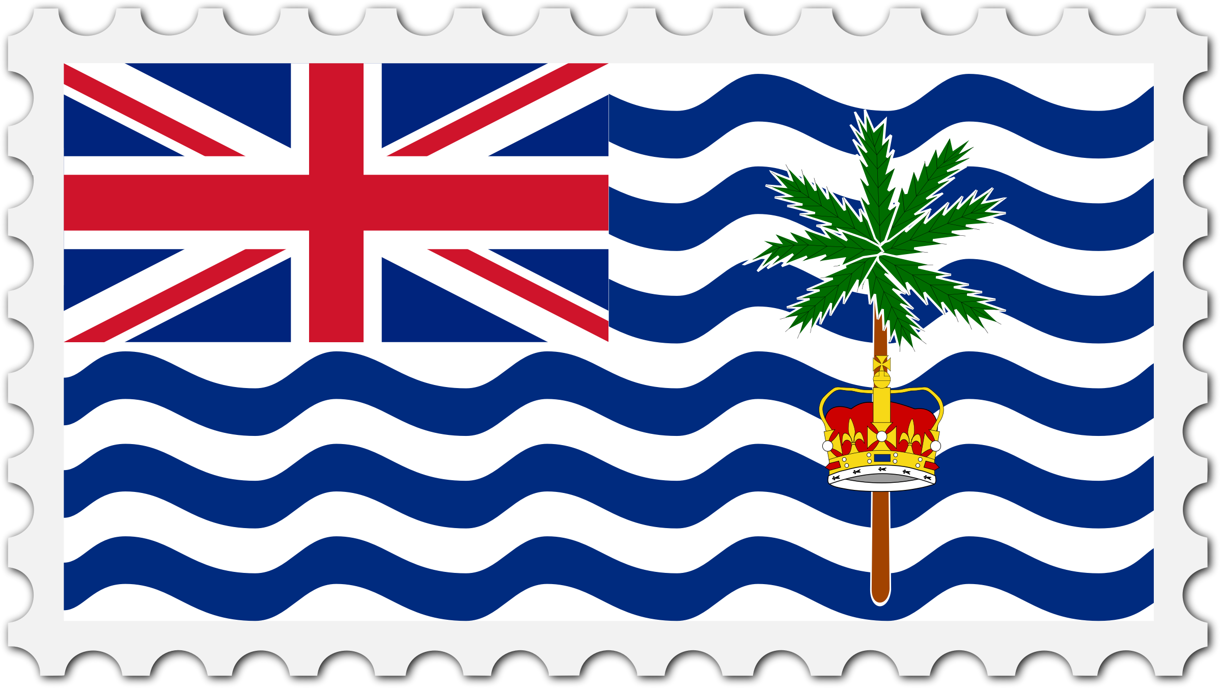 British Indian Ocean Territory flag stamp by Firkin