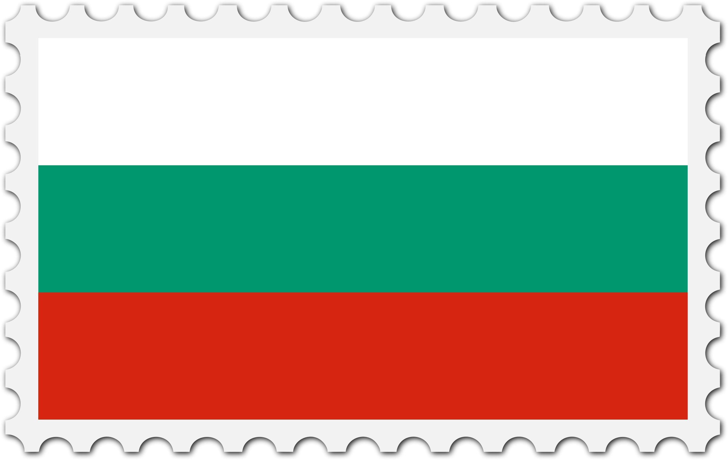Bulgaria flag stamp by Firkin