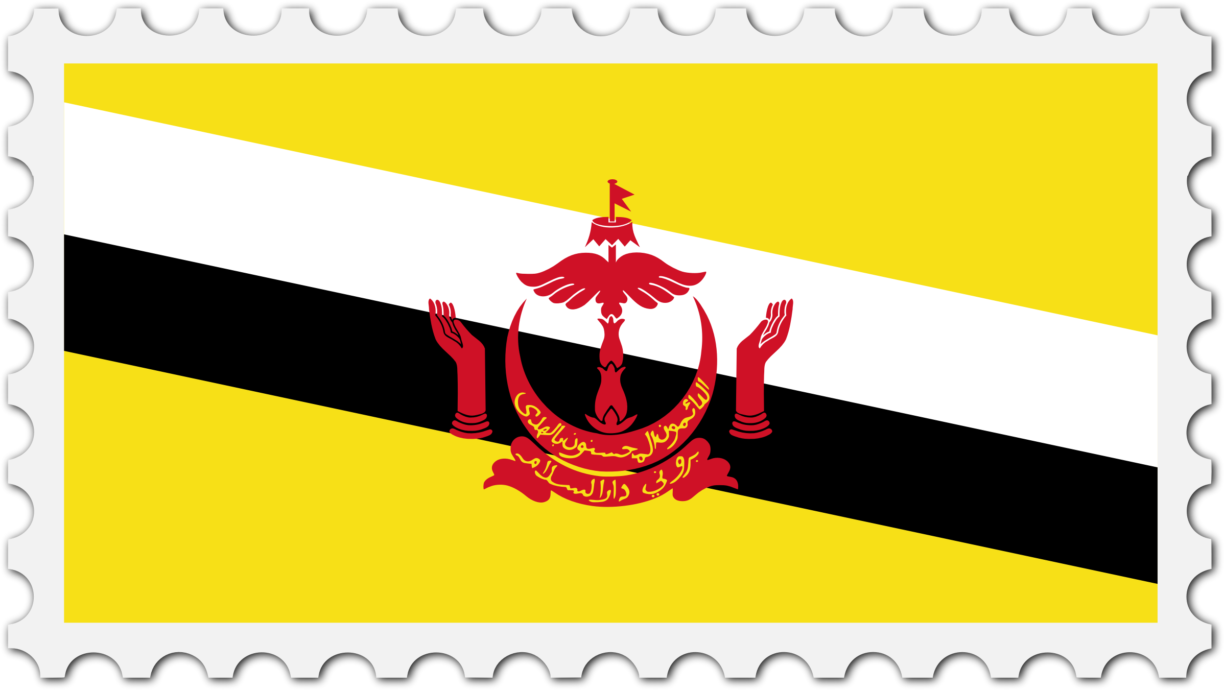 Brunei flag stamp by Firkin