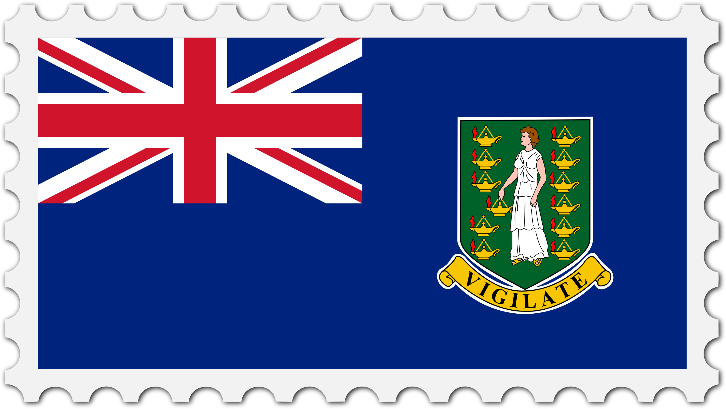 British Virgin Islands flag stamp by Firkin