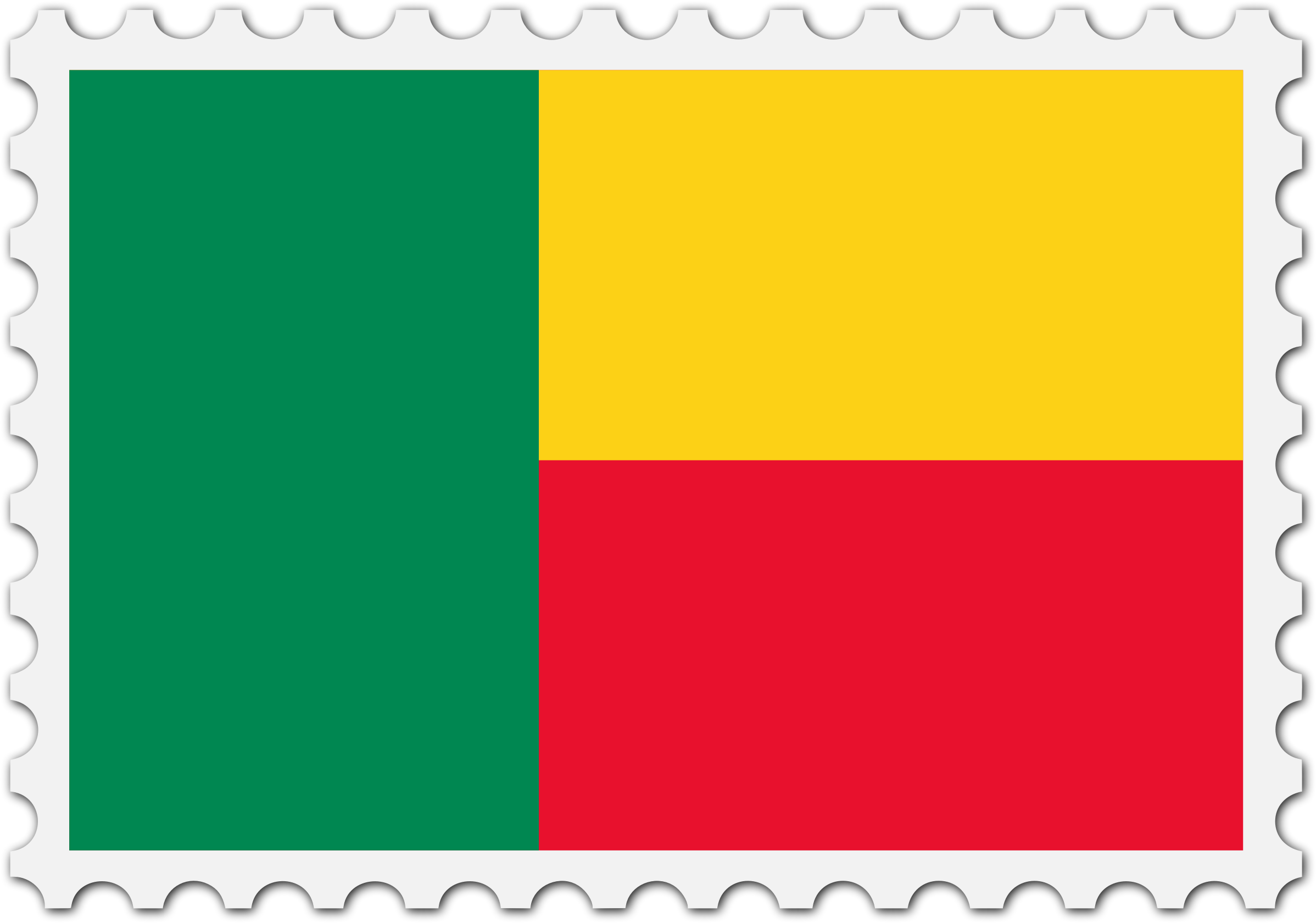 Benin flag stamp by Firkin