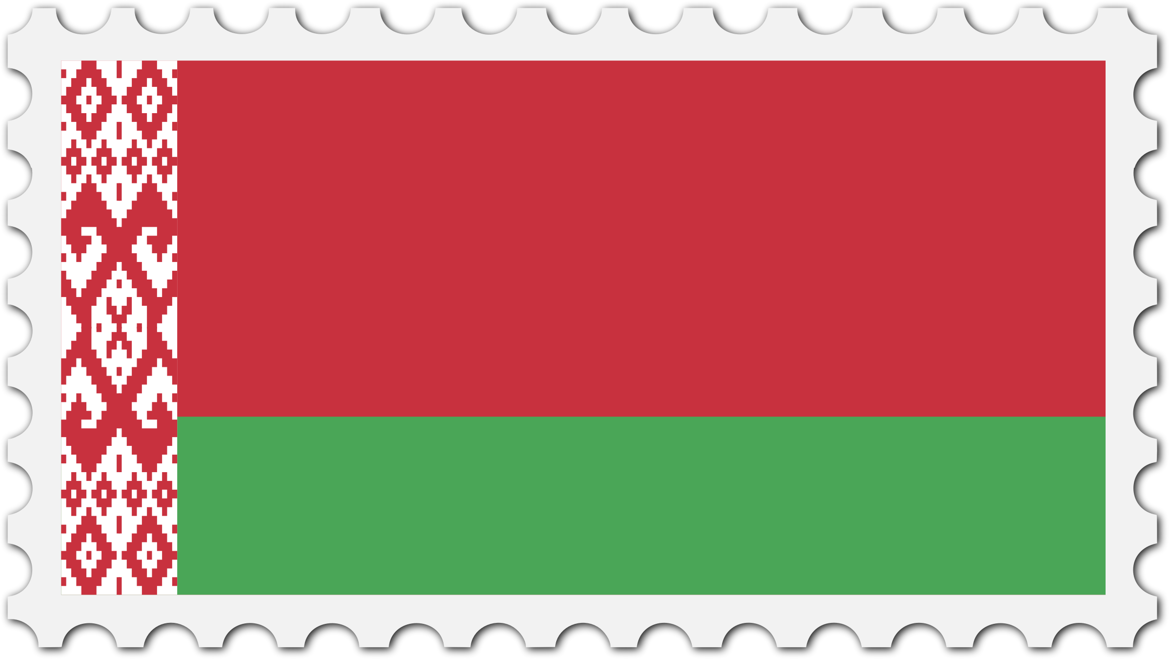 Belarus flag stamp by Firkin