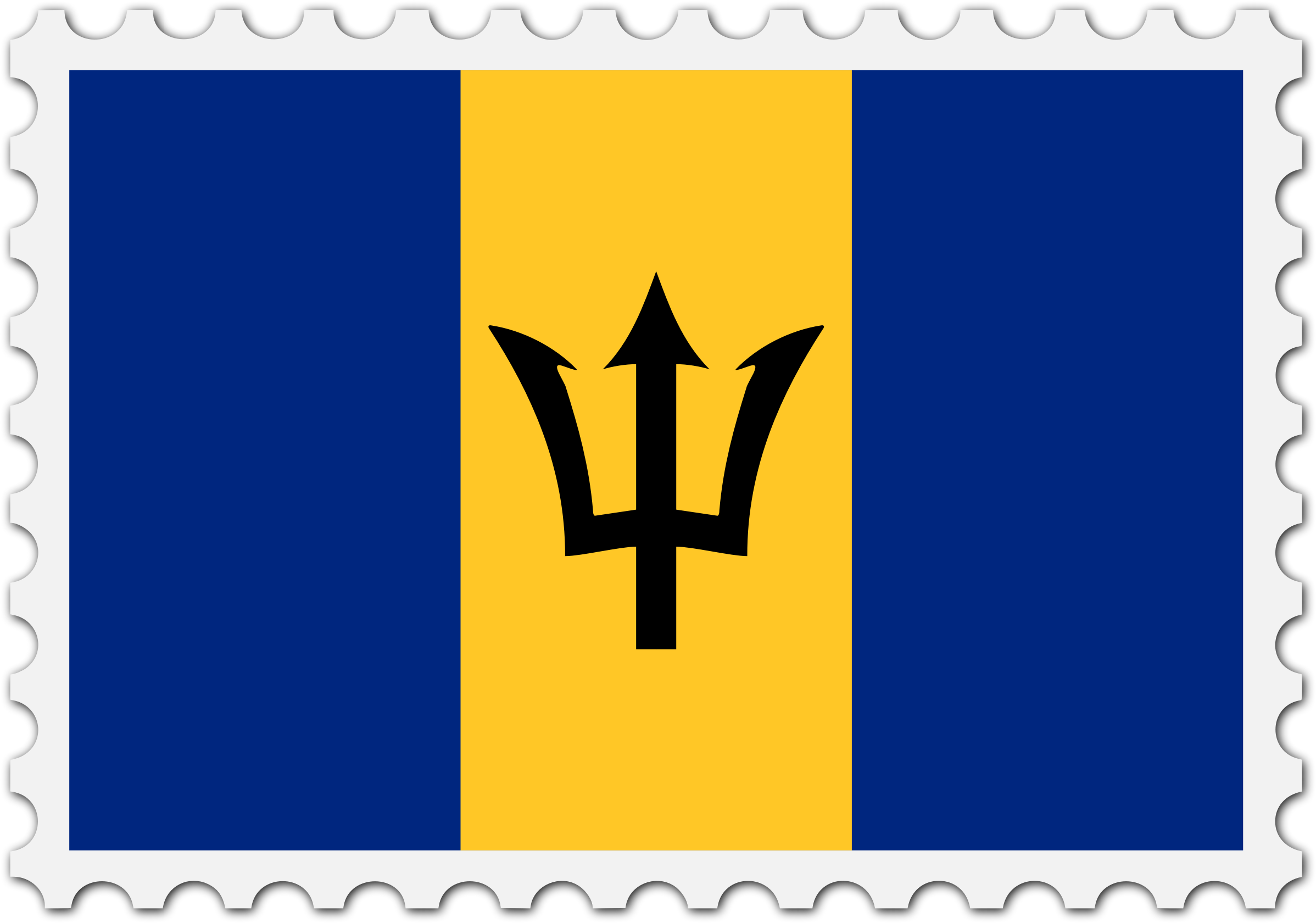 Barbados flag stamp by Firkin