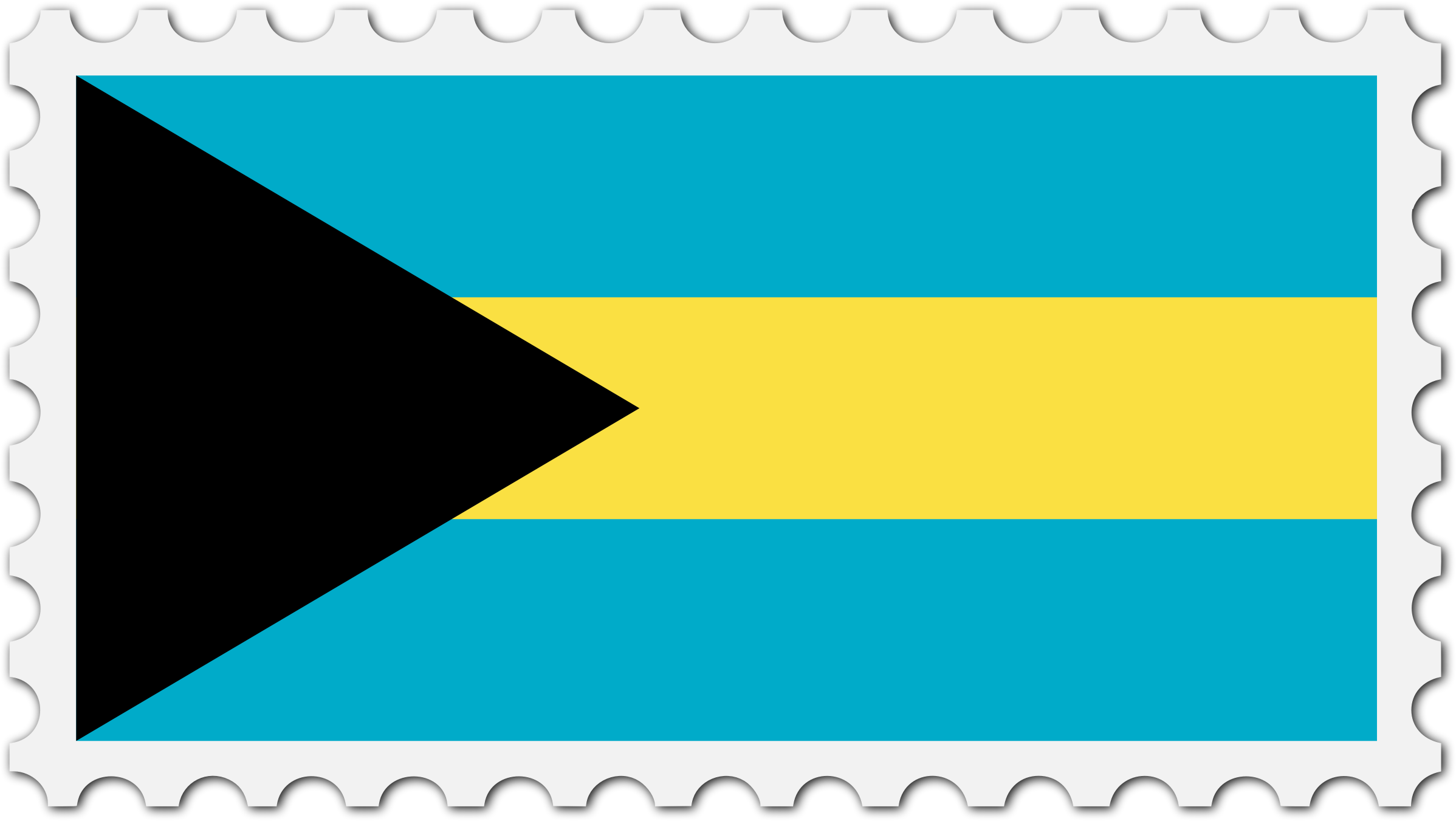 Bahamas flag stamp by Firkin