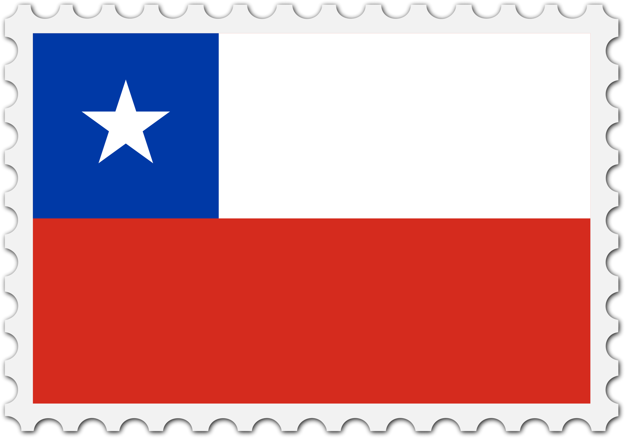 Chile flag stamp by Firkin