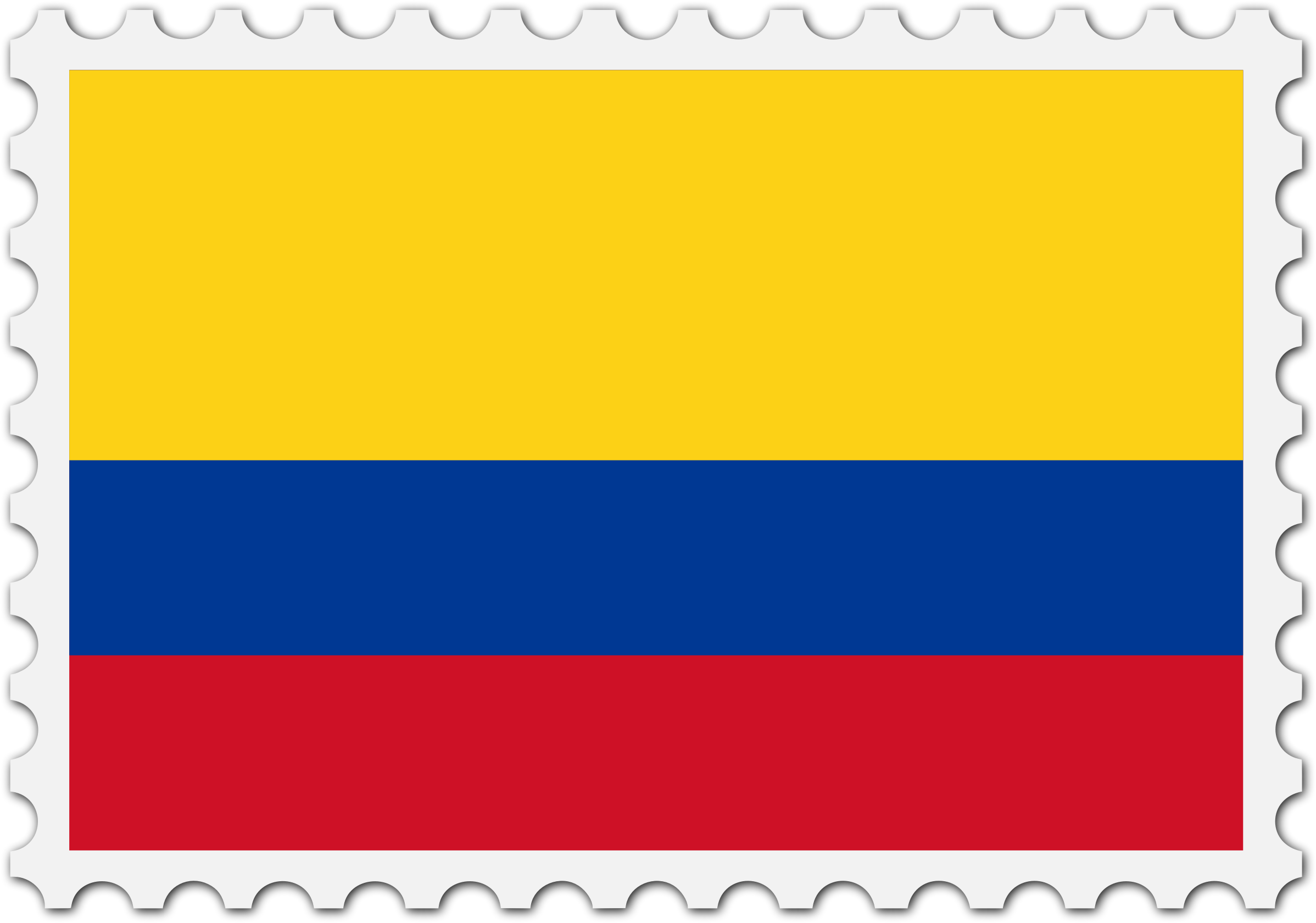 Colombia flag stamp by Firkin