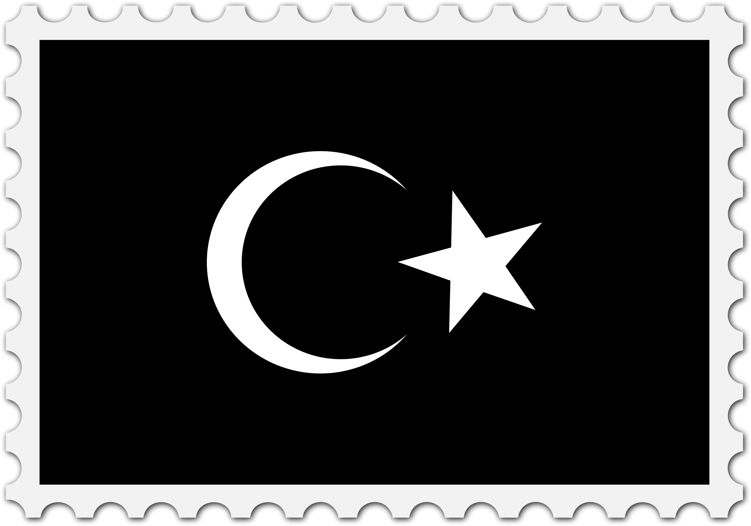 Cyrenaica flag stamp by Firkin