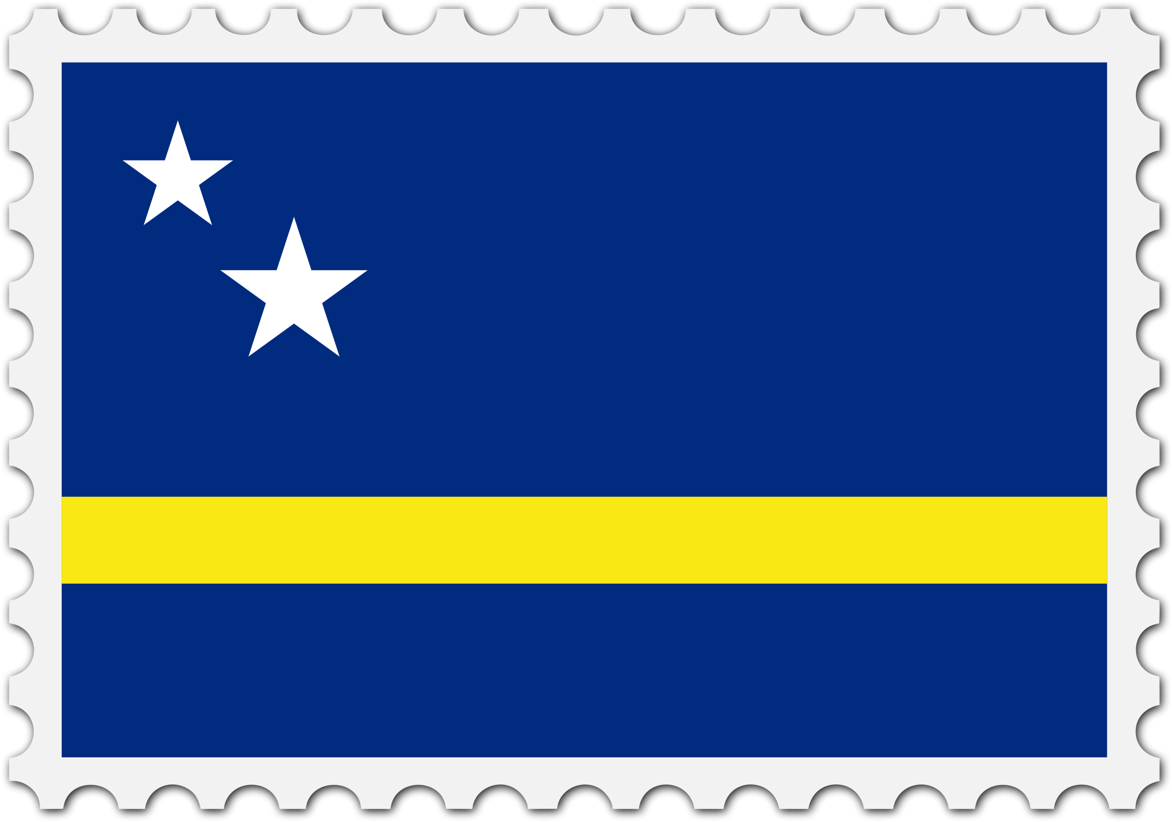 Curacao flag stamp by Firkin