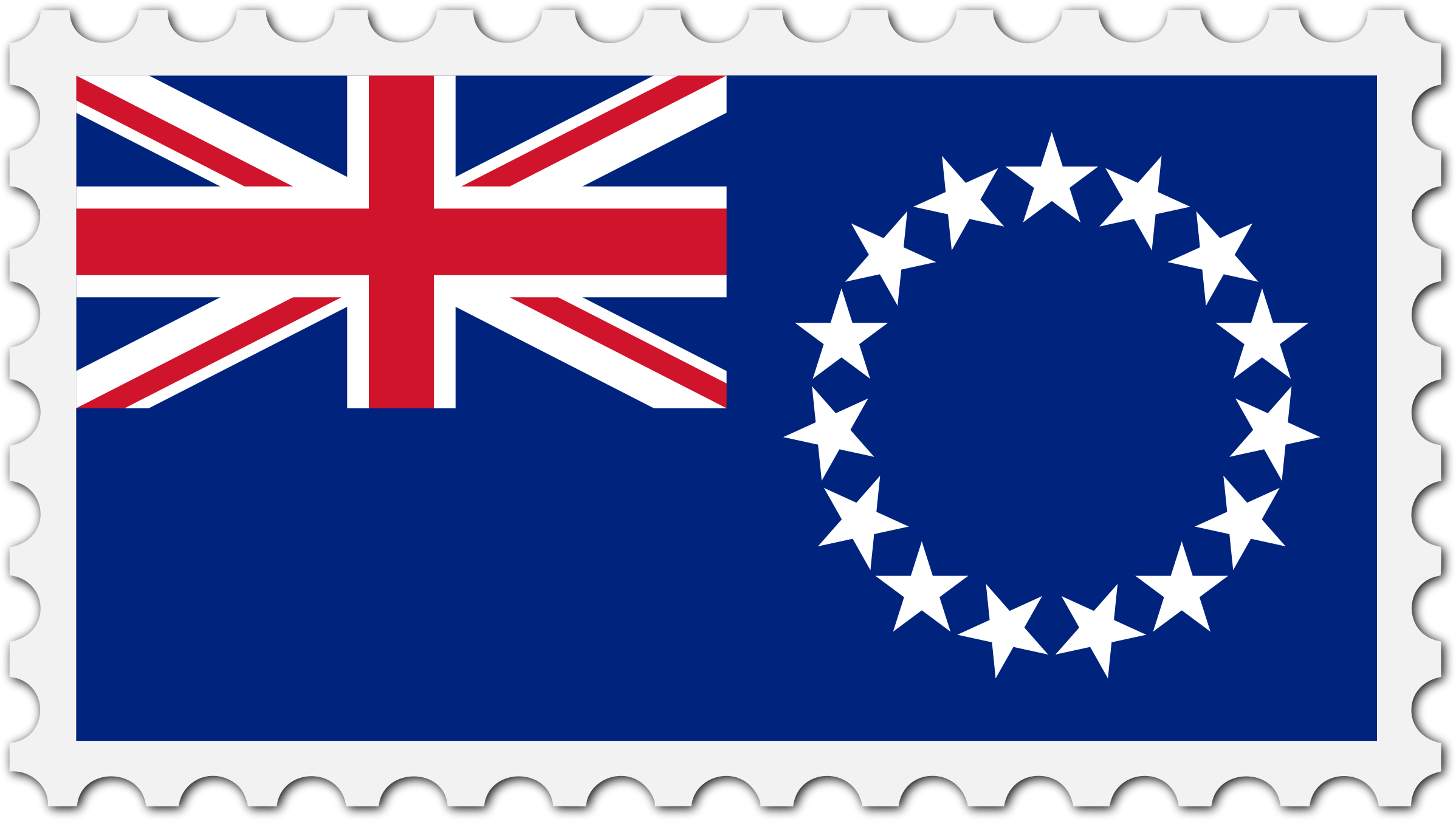 Cook Islands flag stamp by Firkin