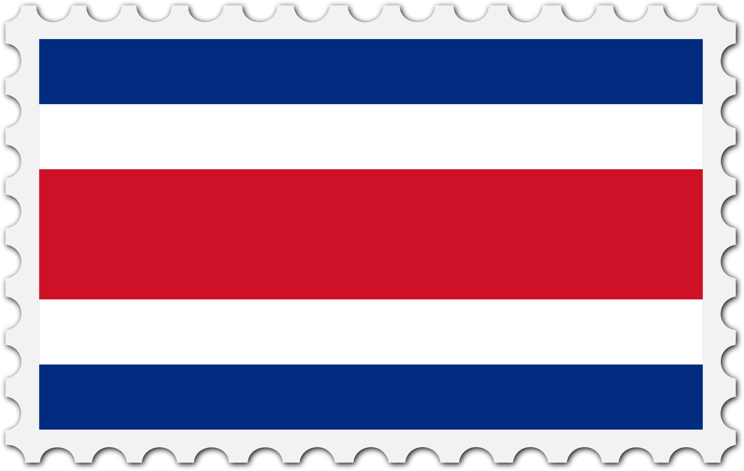 Costa Rica flag stamp by Firkin