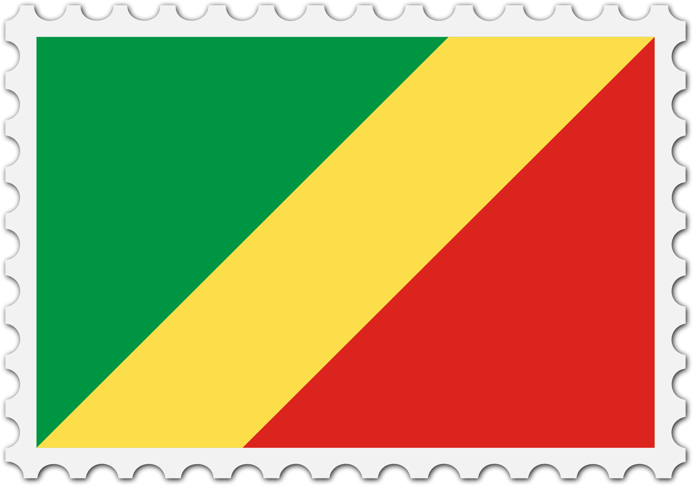 Republic of the Congo flag stamp by Firkin