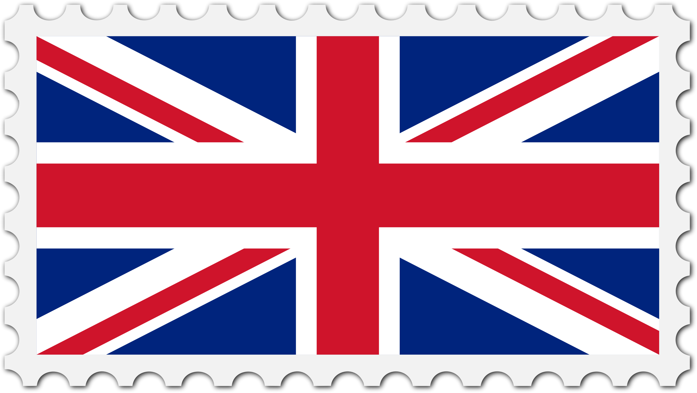 United Kingdom flag stamp by Firkin