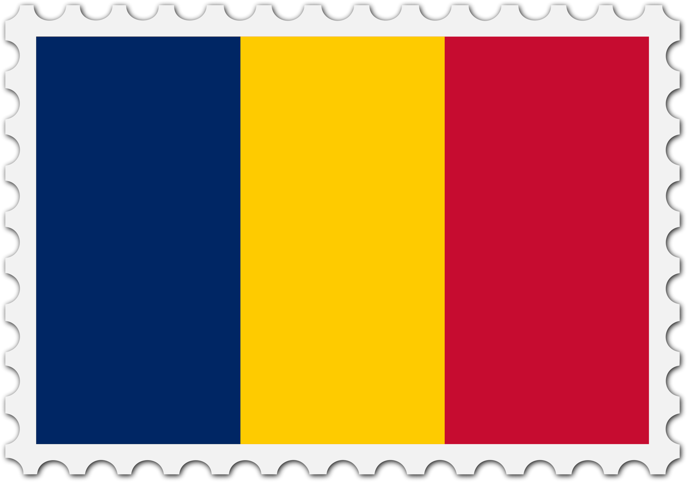 Chad flag stamp by Firkin