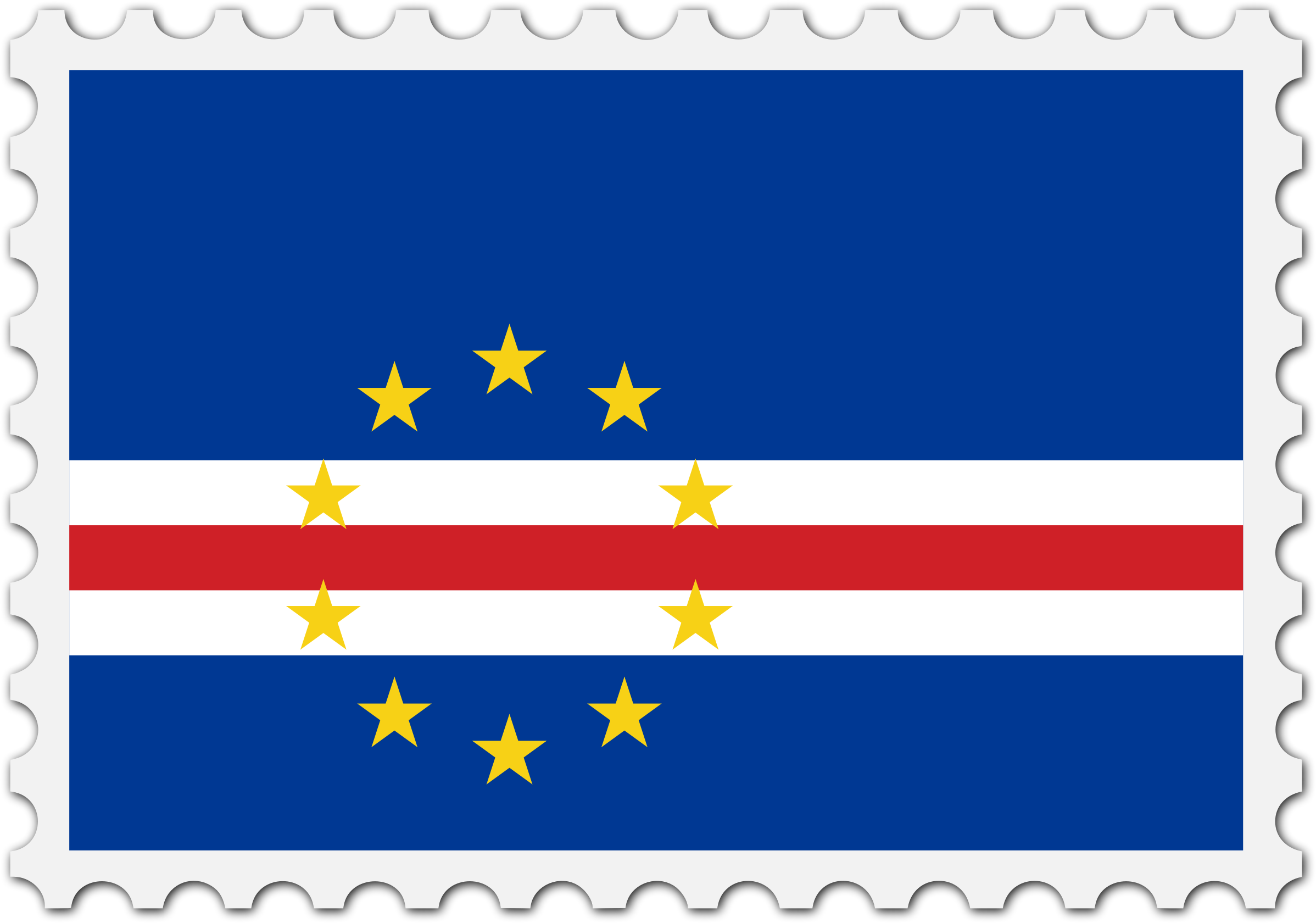 Cape Verde flag stamp by Firkin