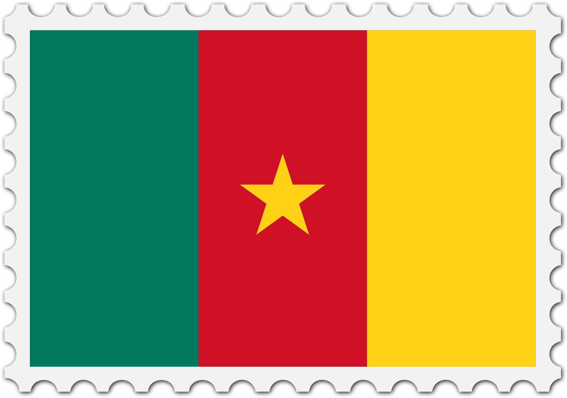 Cameroon flag stamp by Firkin