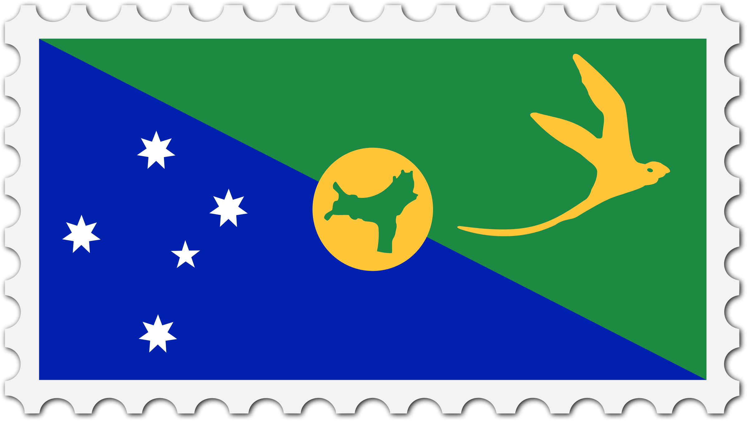 Christmas Island flag stamp by Firkin