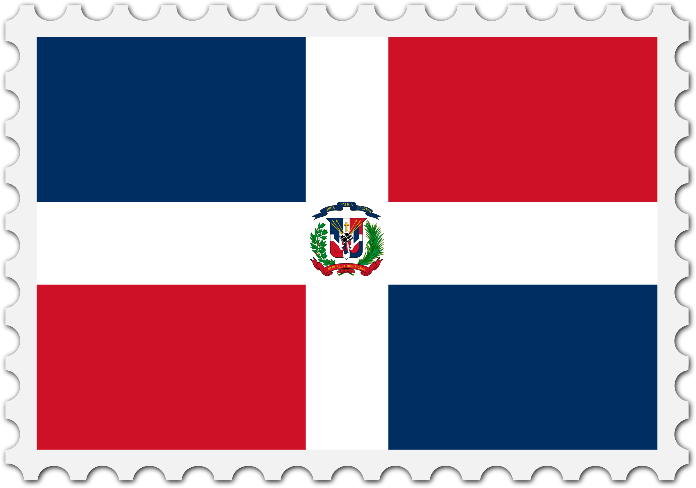 Dominican Republic flag stamp by Firkin