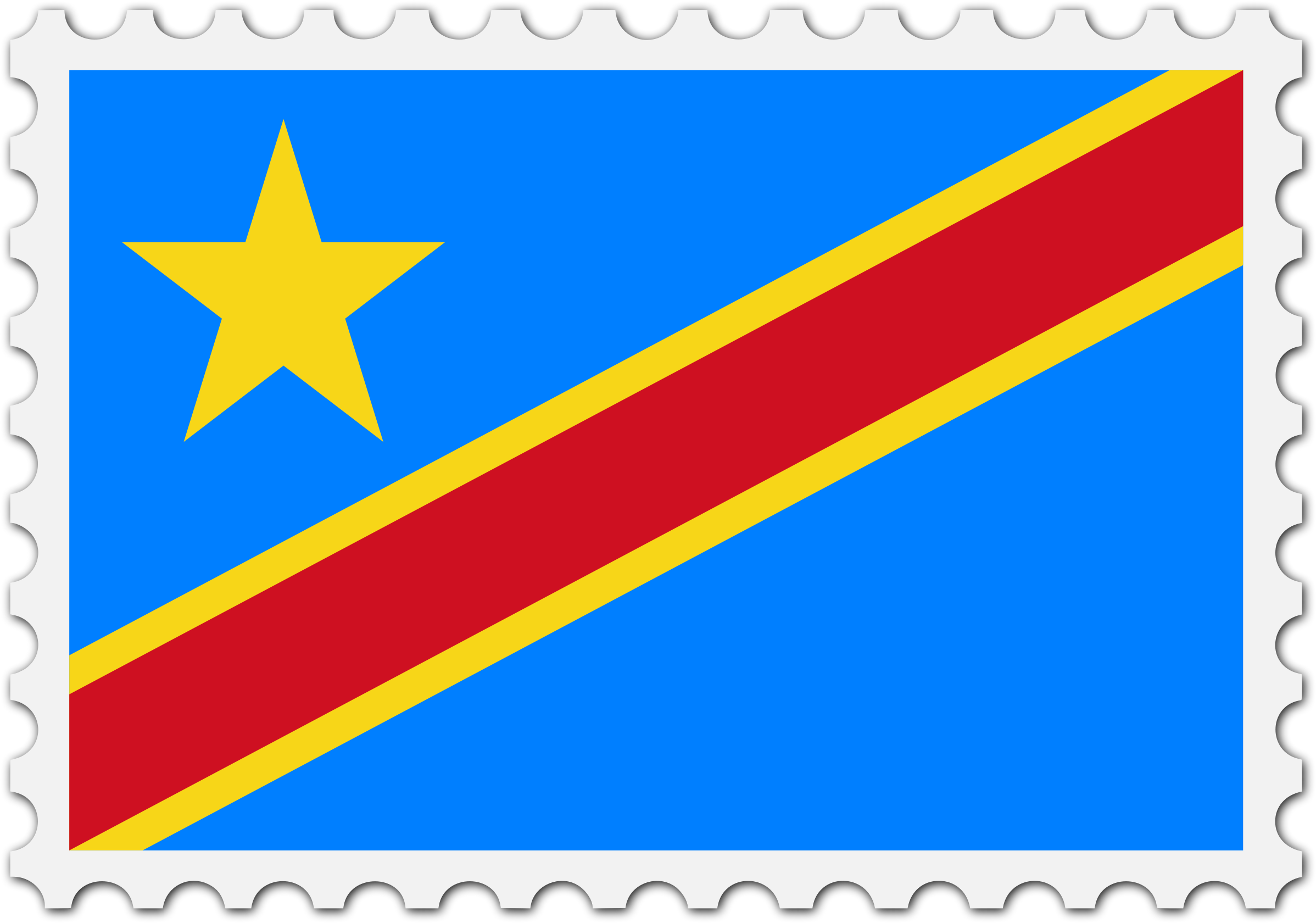 Democratic Republic of the Congo flag stamp by Firkin