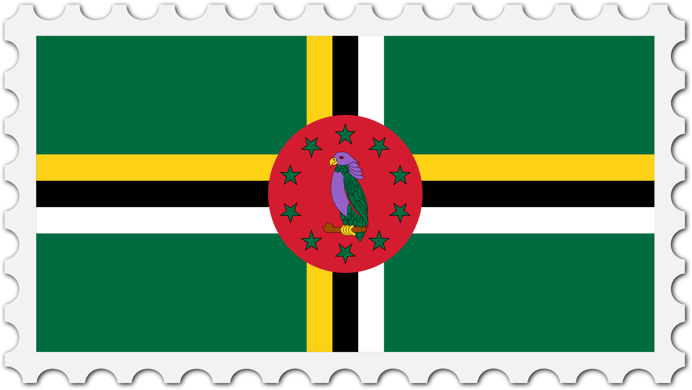 Dominica flag stamp by Firkin
