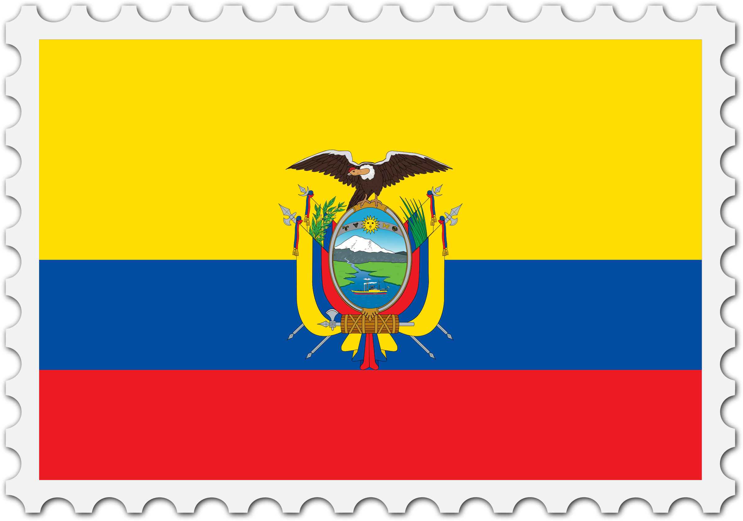 Ecuador flag stamp by Firkin
