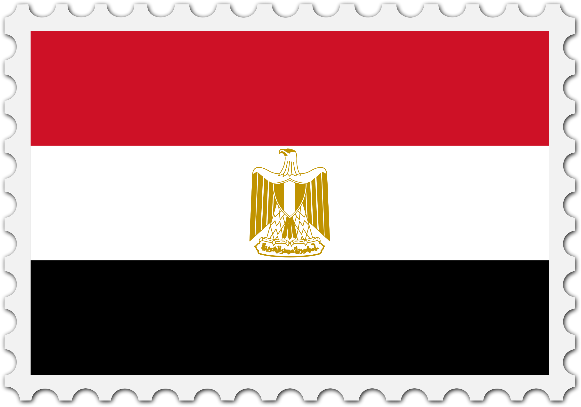 Egypt flag stamp by Firkin