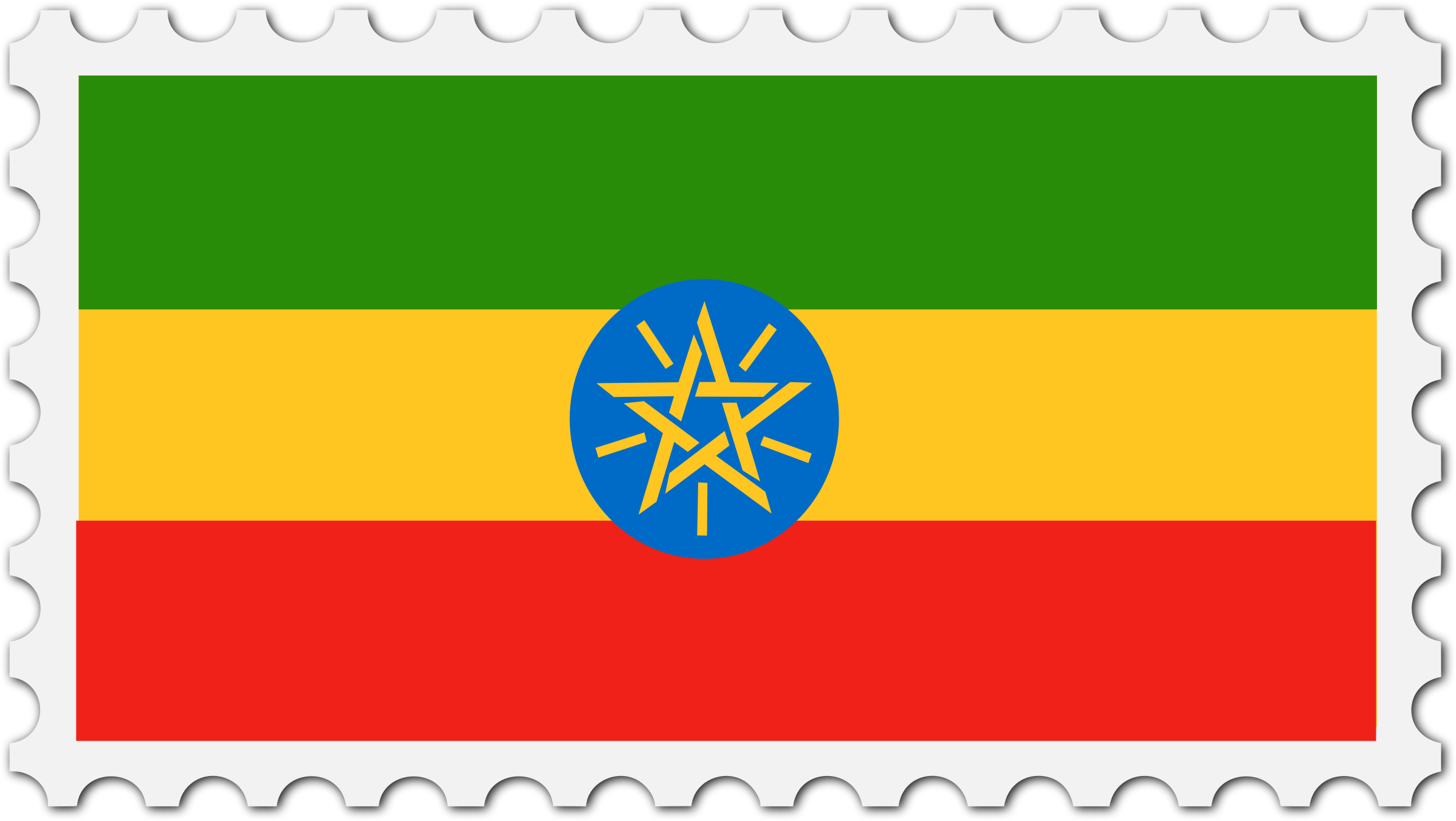 Ethiopia flag stamp by Firkin