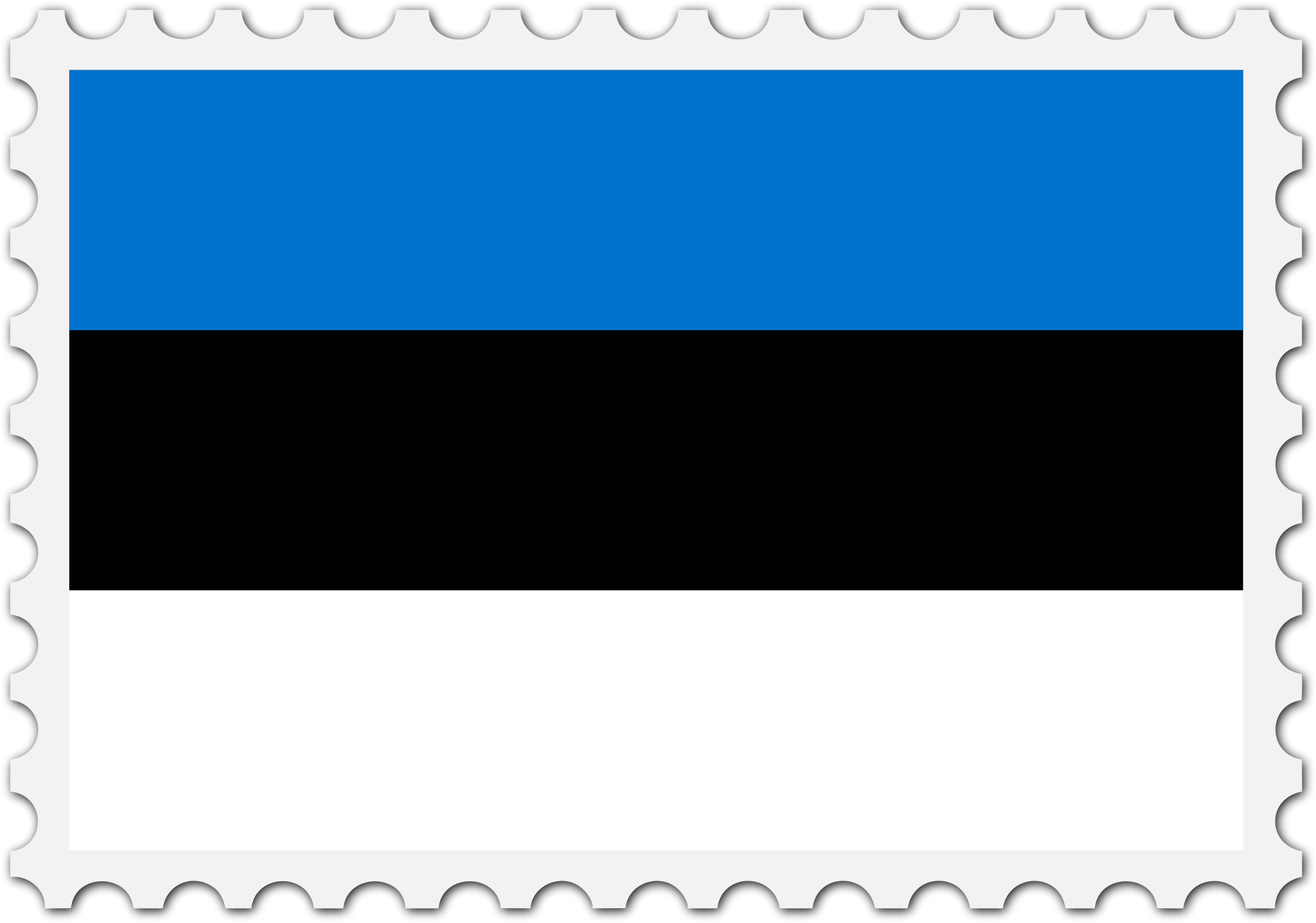 Estonia flag stamp by Firkin