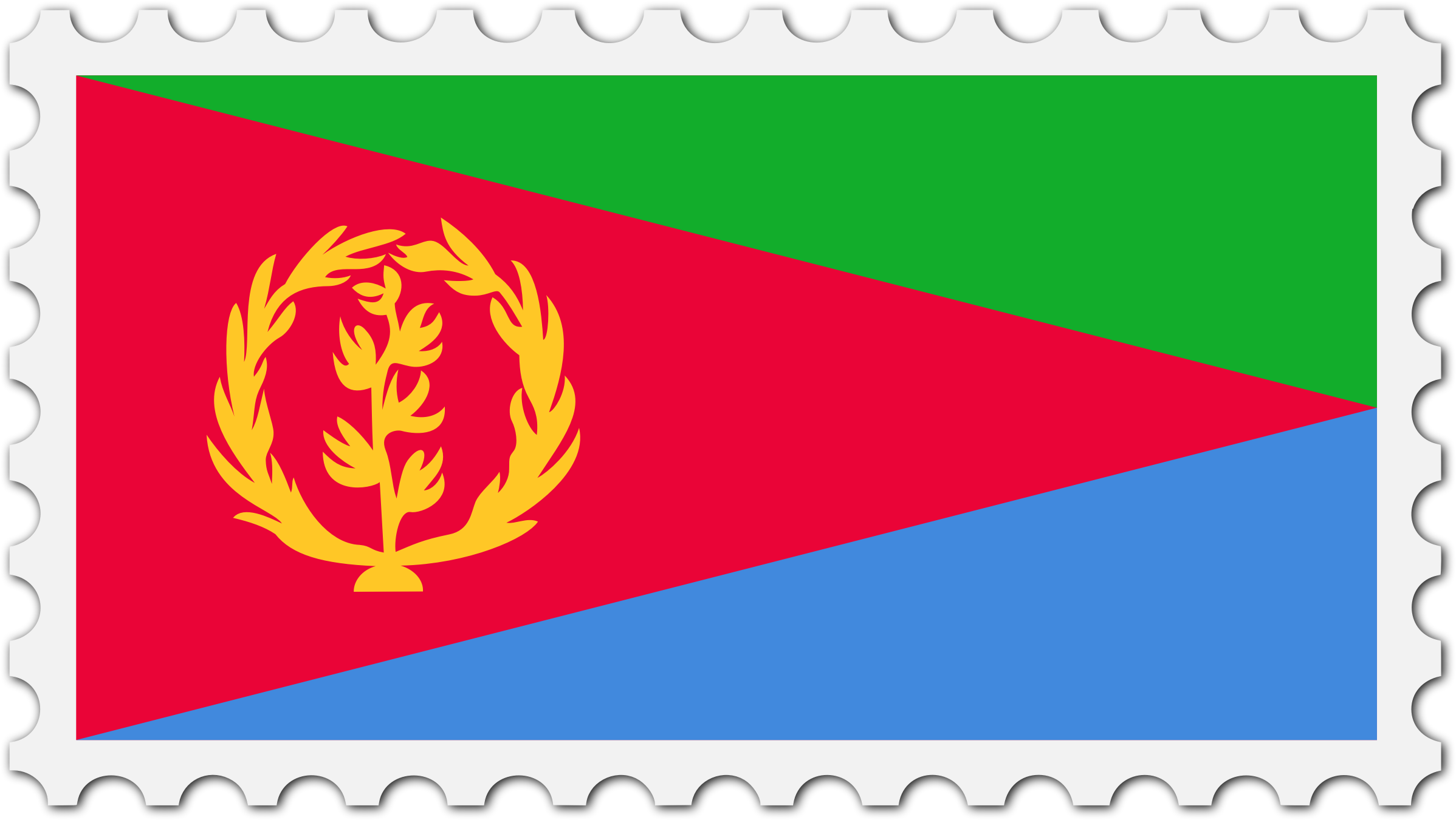 Eritrea flag stamp by Firkin