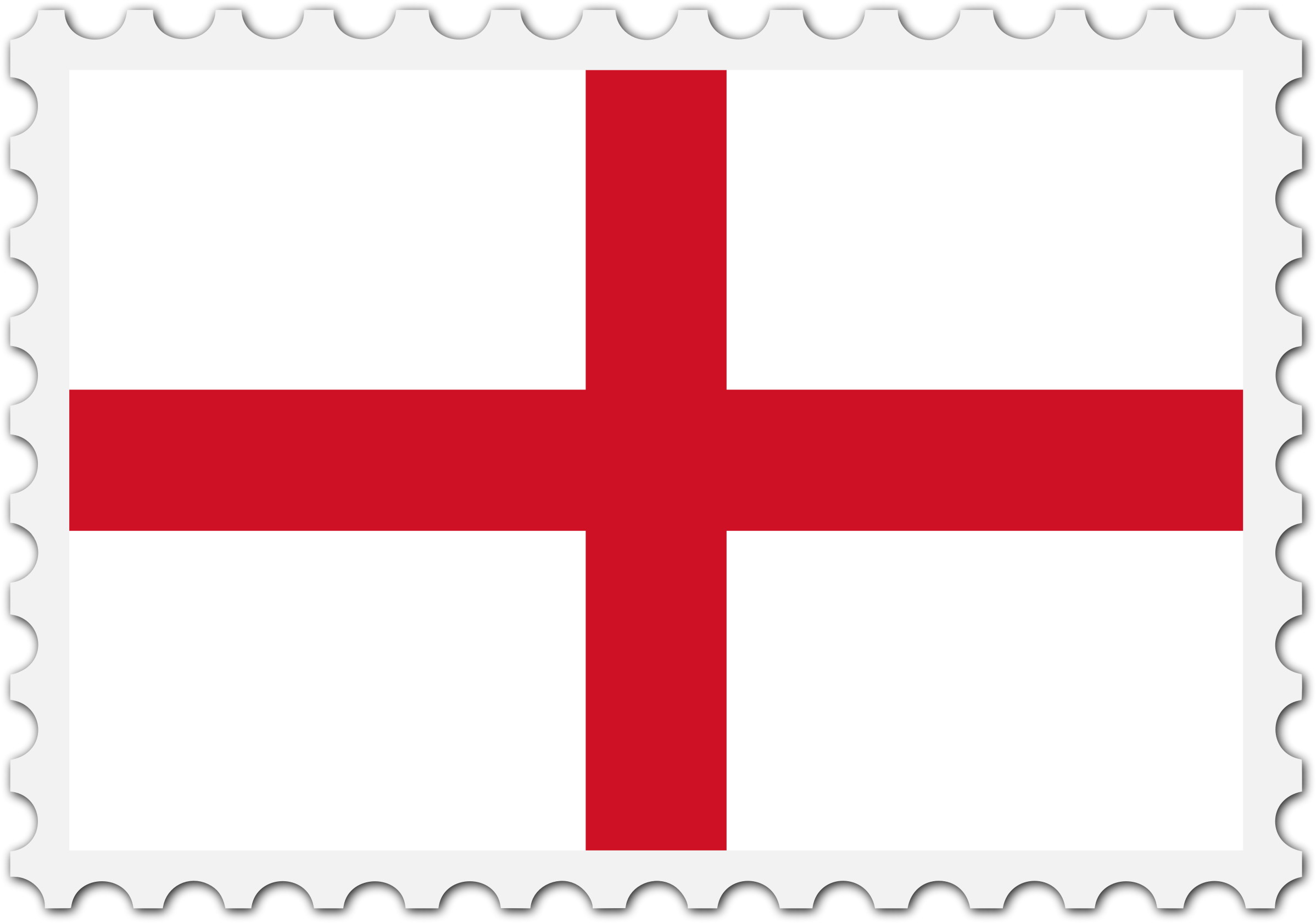 England flag stamp by Firkin