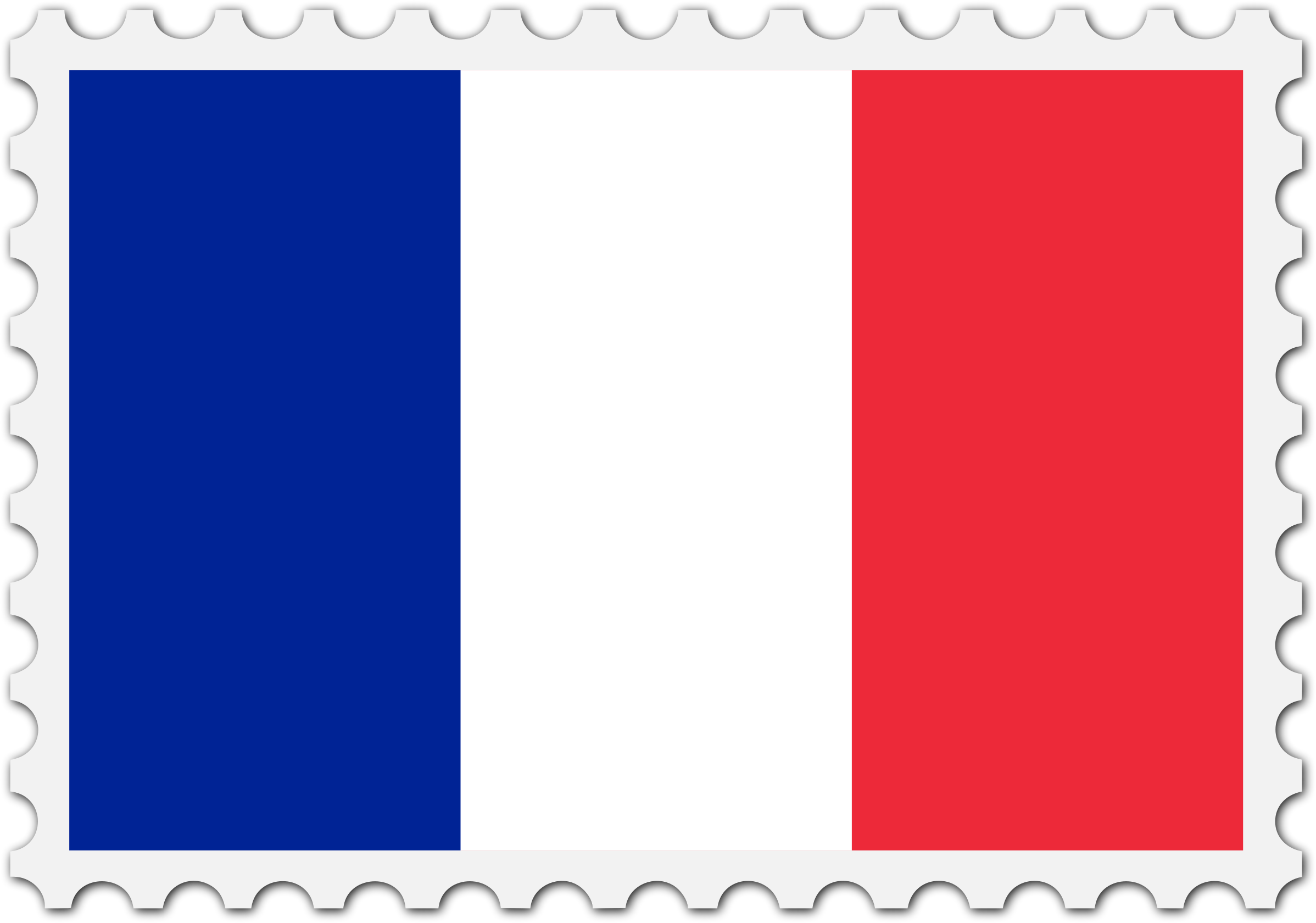 France flag stamp by Firkin