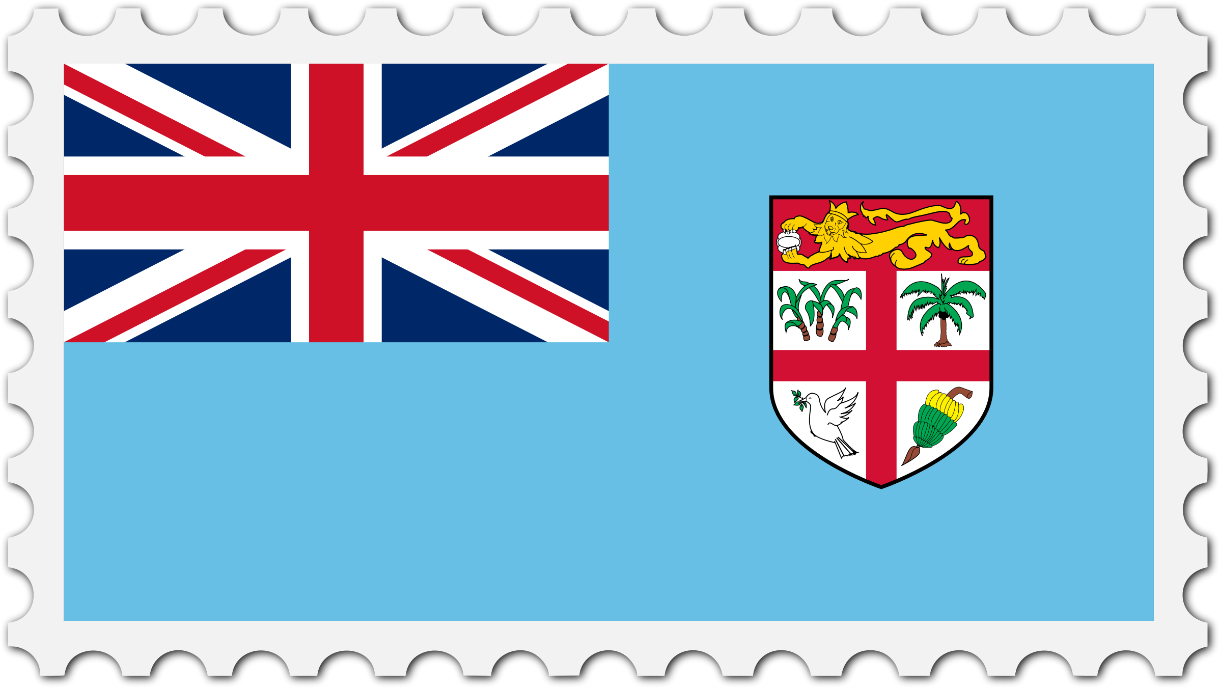 Fiji flag stamp by Firkin